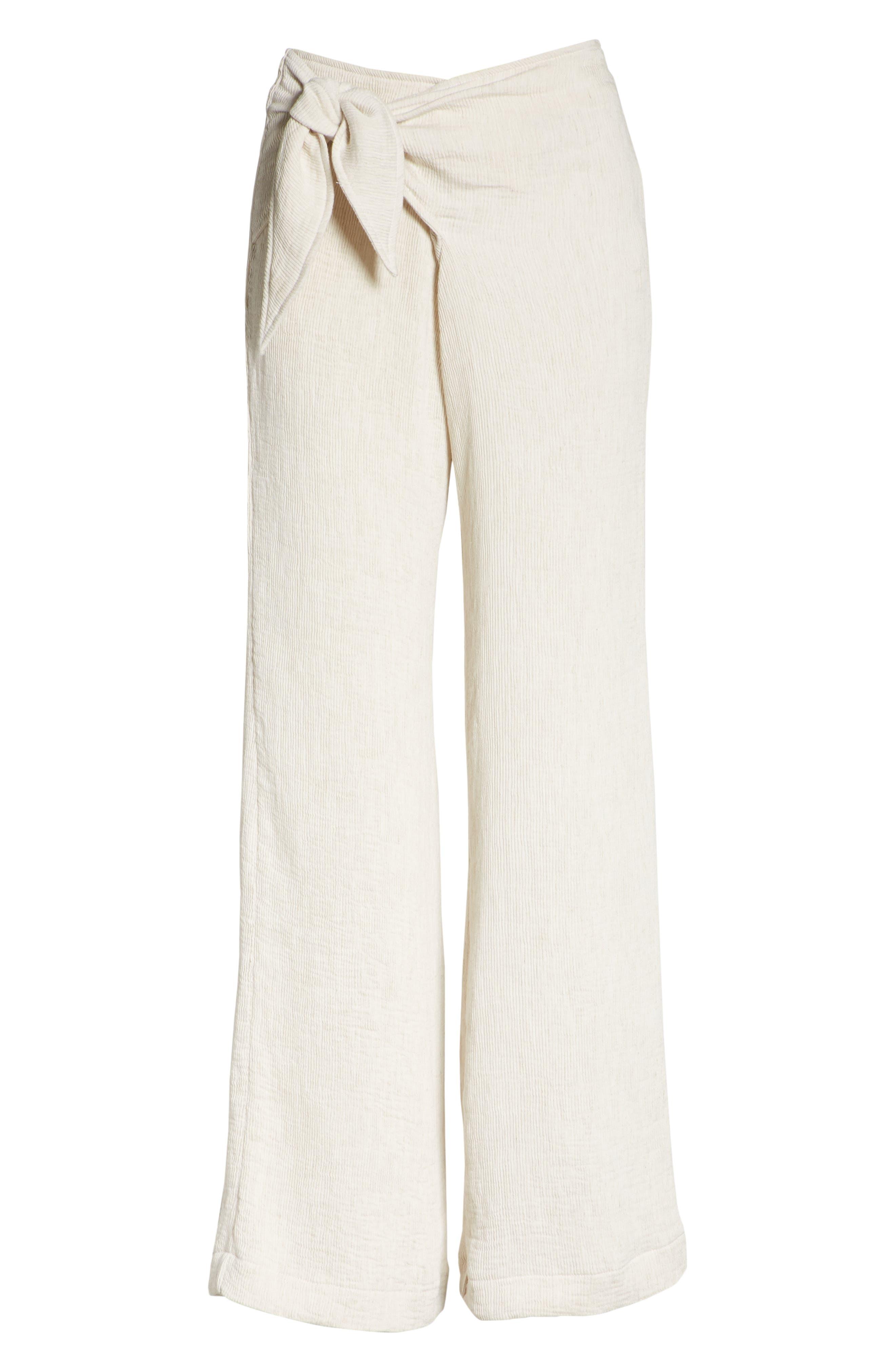 Hatton Drawstring Tie Front Pants,                             Alternate thumbnail 6, color,                             900