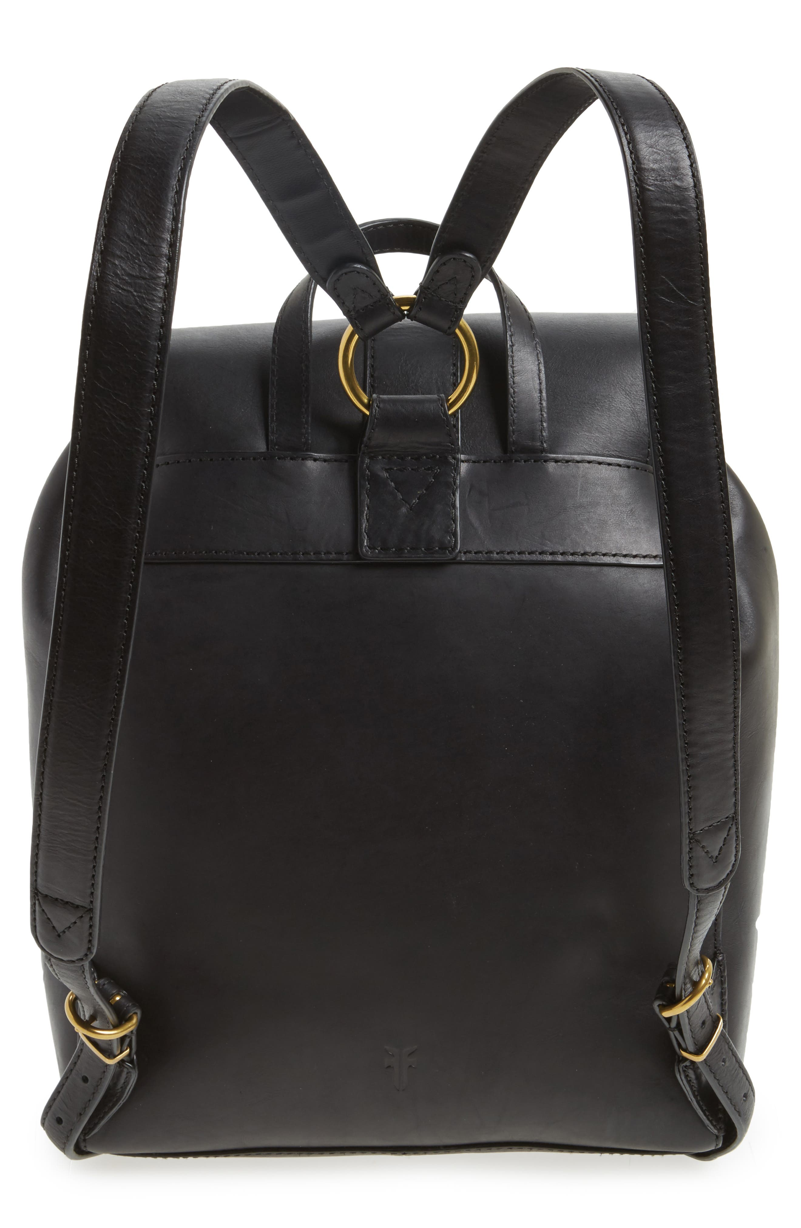 Ilana Harness Leather Backpack,                             Alternate thumbnail 3, color,                             001