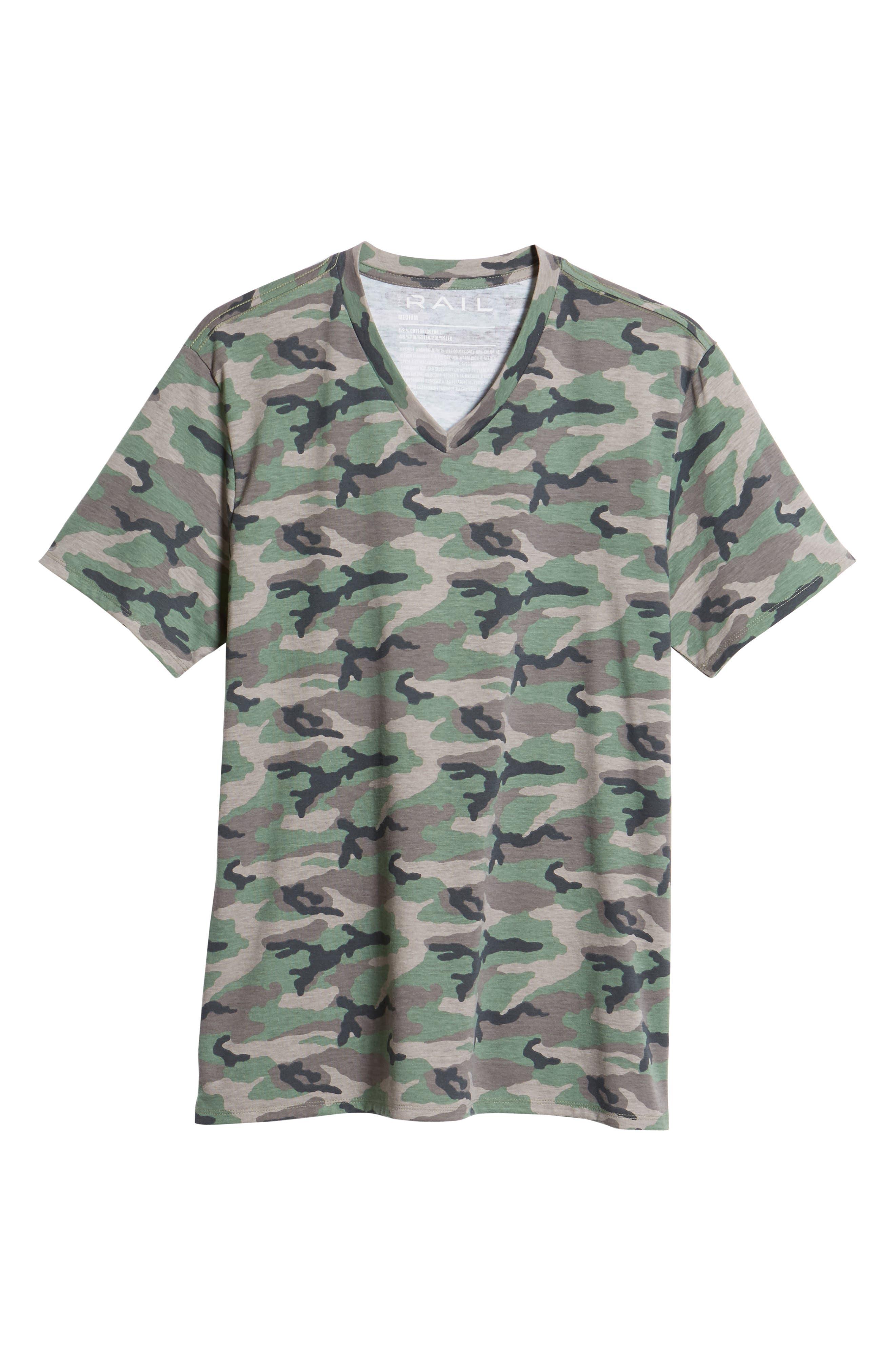 V-Neck T-Shirt,                             Alternate thumbnail 6, color,                             210