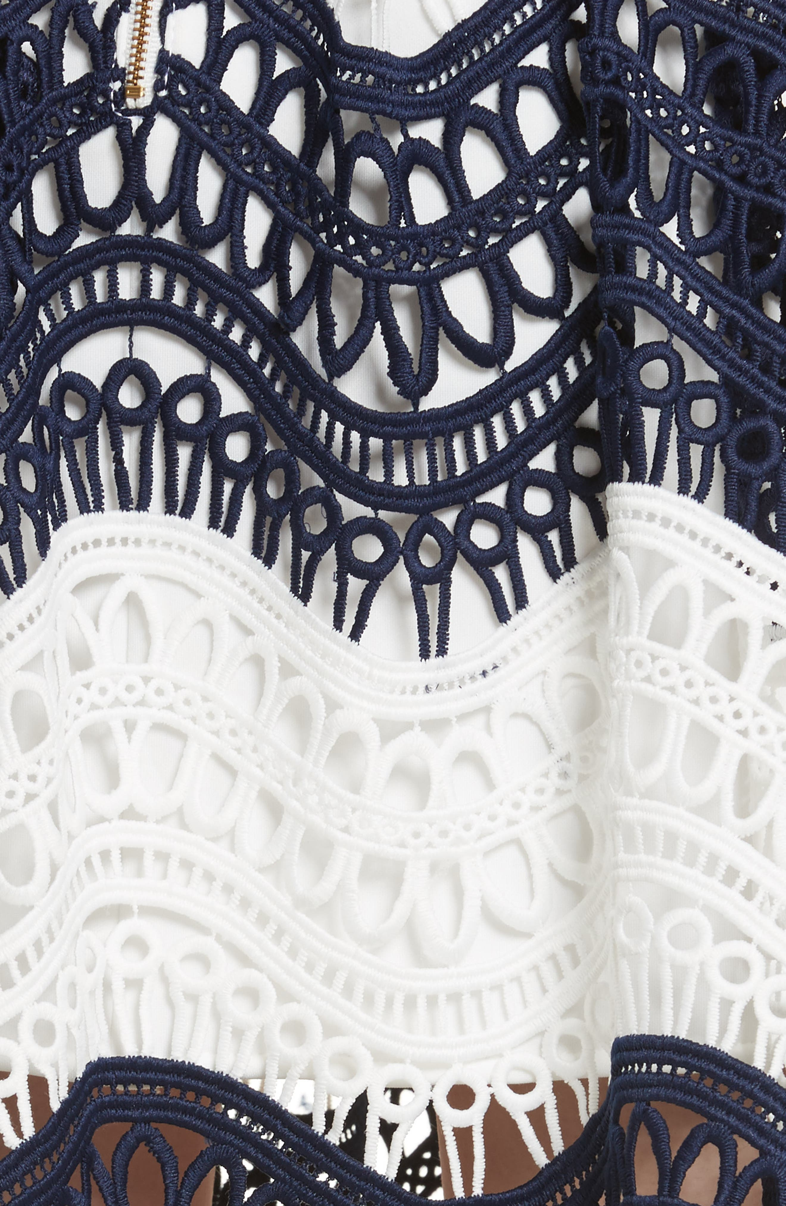 Wave Lace Off the Shoulder Midi Dress,                             Alternate thumbnail 5, color,                             100