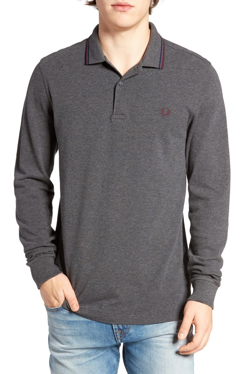 Fred Perry Twin Tipped Long Sleeve Piqu Polo Nordstrom