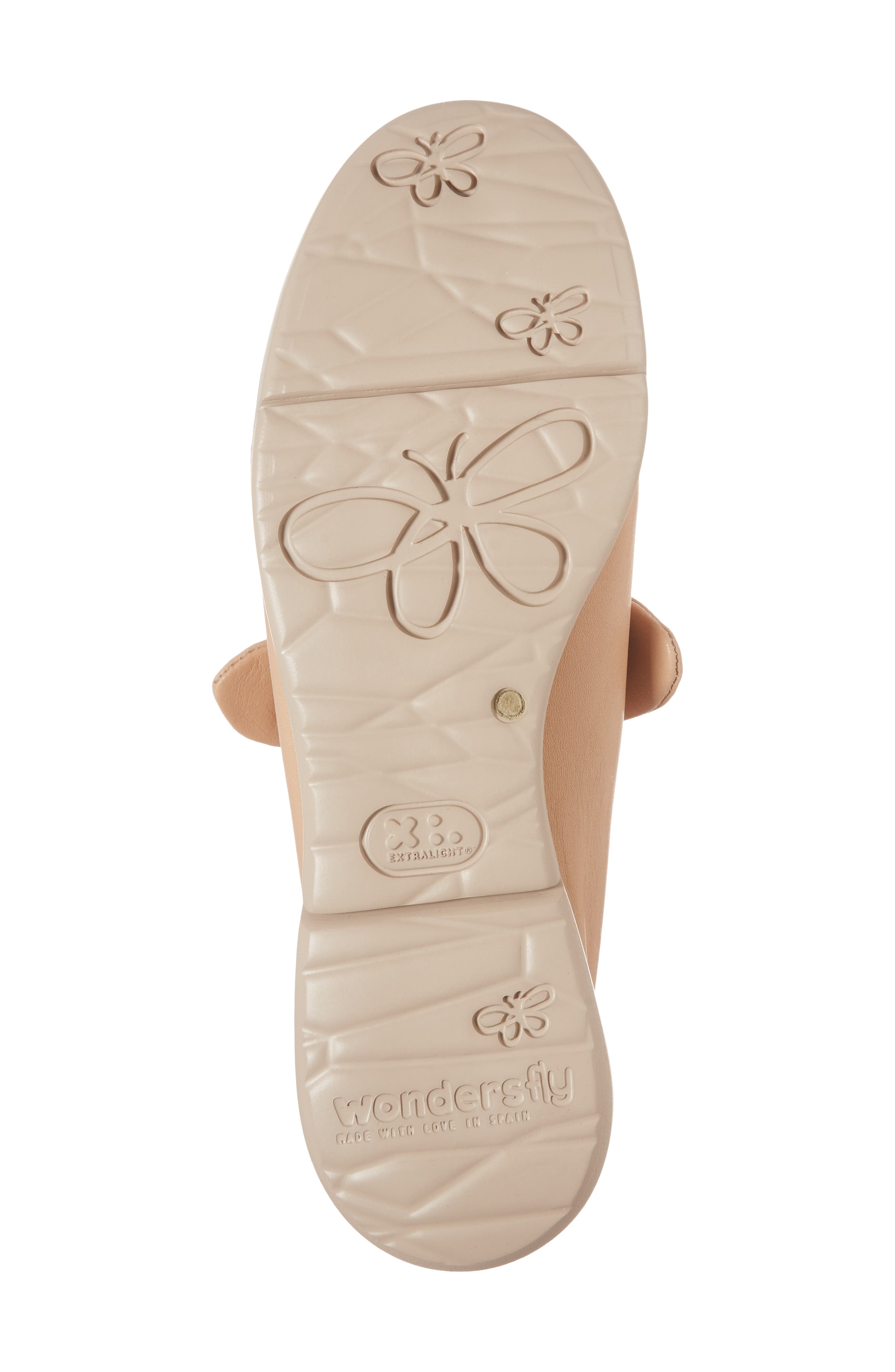 Knotted Mary Jane Flat,                             Alternate thumbnail 6, color,                             PALO BEIGE LEATHER