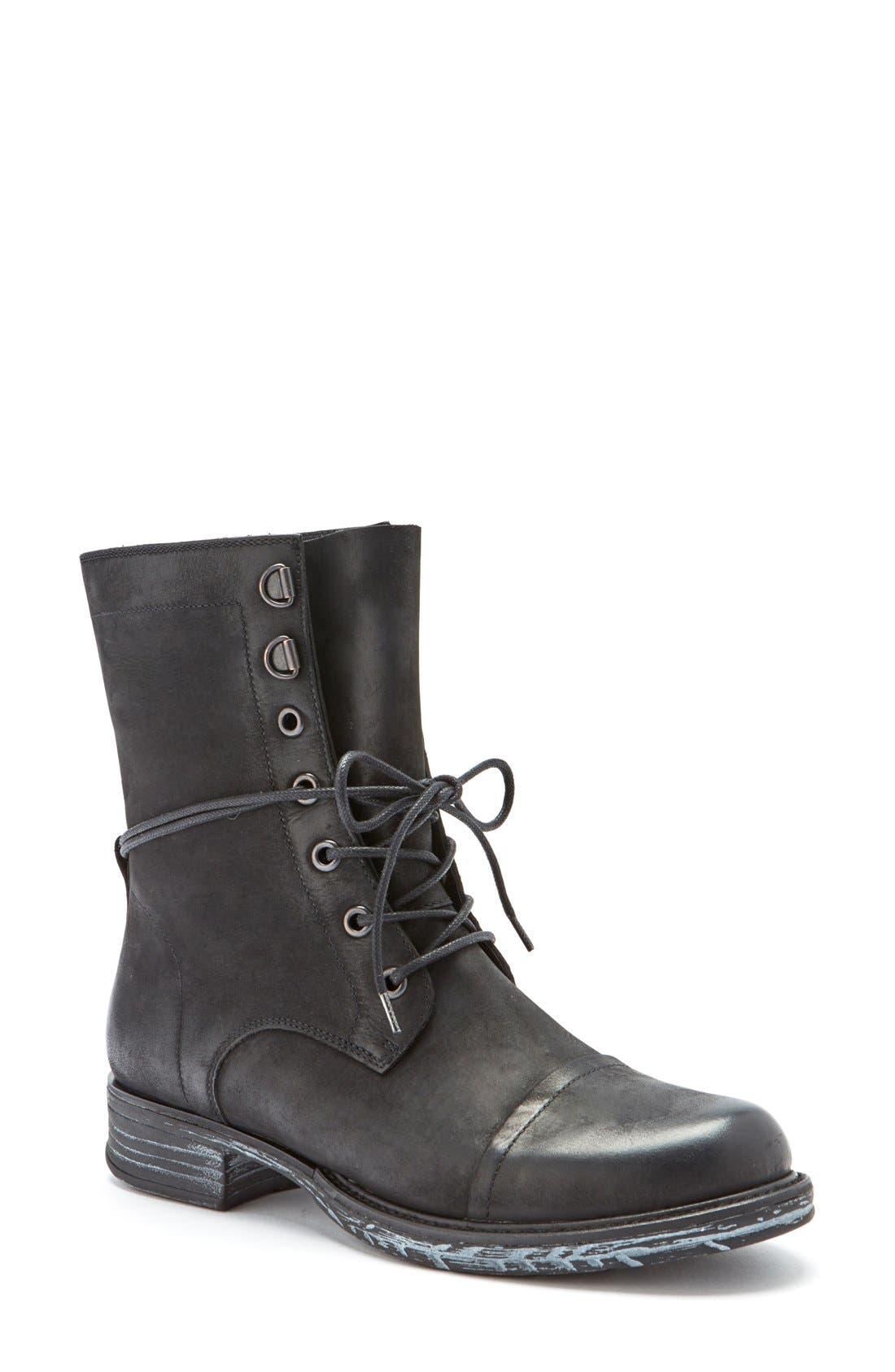 'Pyo' Waterproof Lace-Up Boot,                             Main thumbnail 1, color,                             001