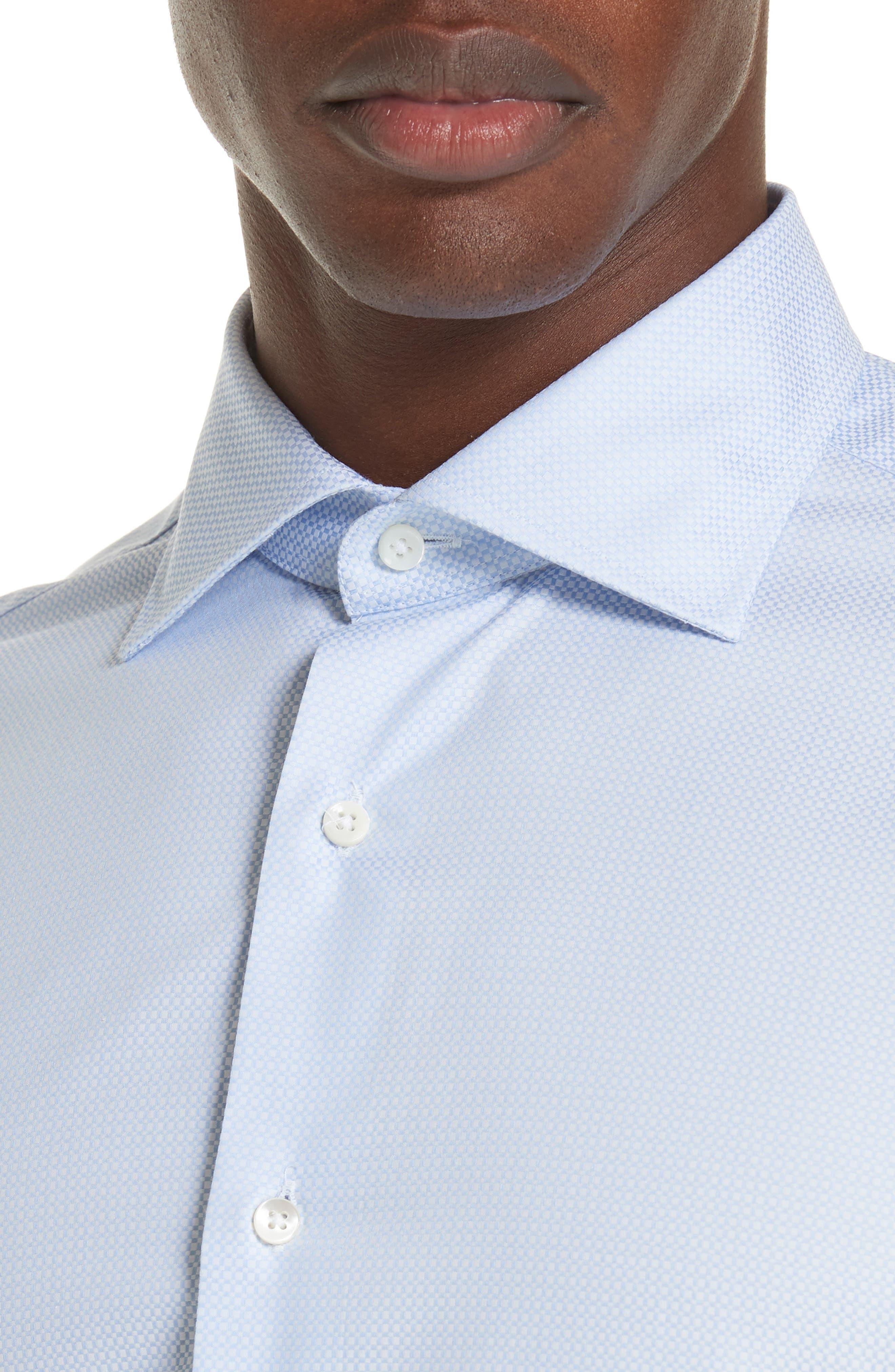 Trim Fit Geometric Dress Shirt,                             Alternate thumbnail 2, color,                             LIGHT BLUE