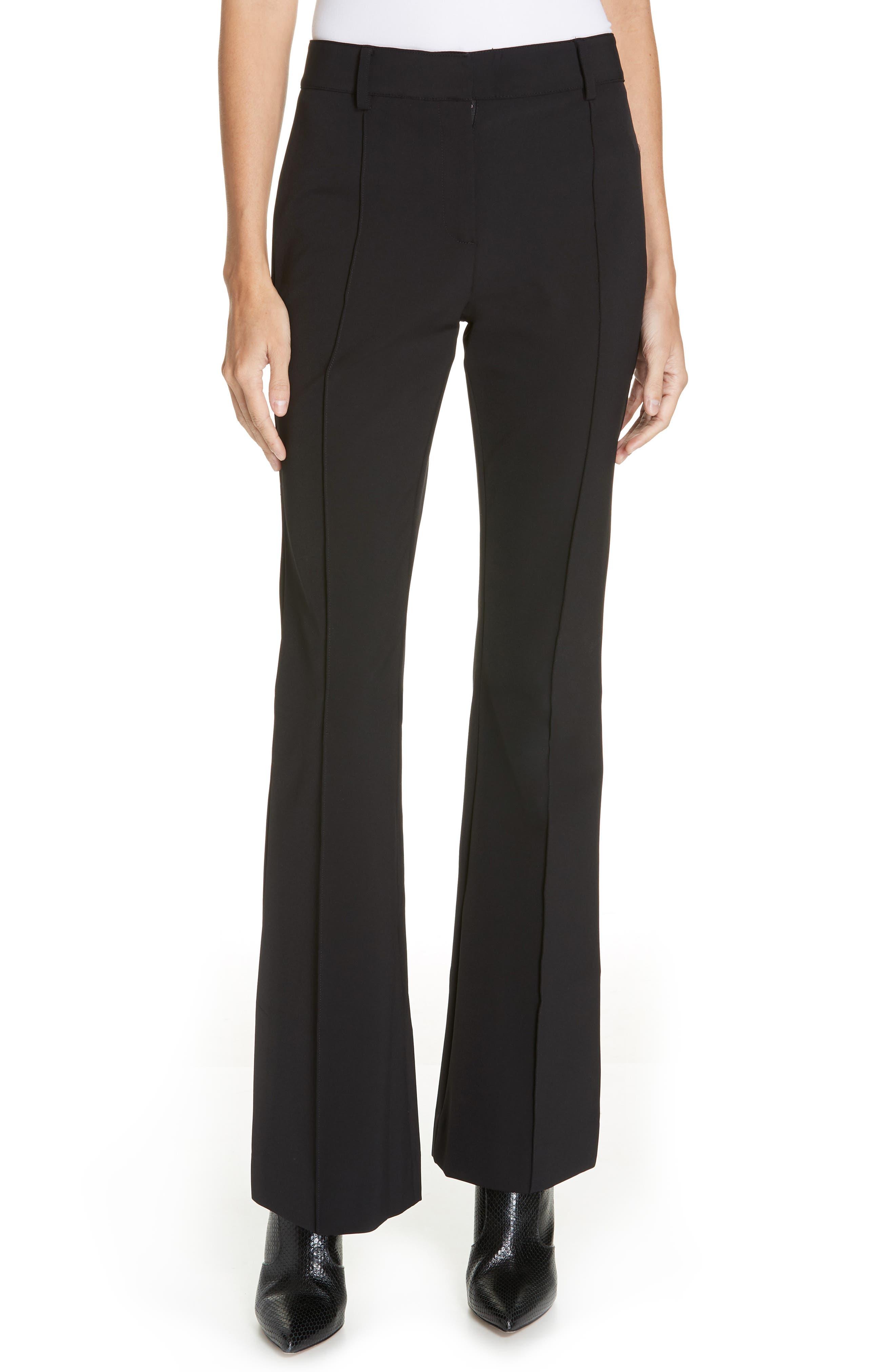 Hibiscus Flare Pants,                         Main,                         color, BLACK