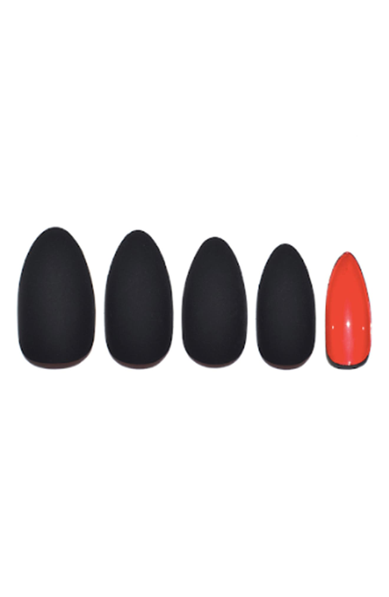 Caviar Matte Caviar Pop-On Manicure Set,                             Main thumbnail 1, color,                             CAVIAR