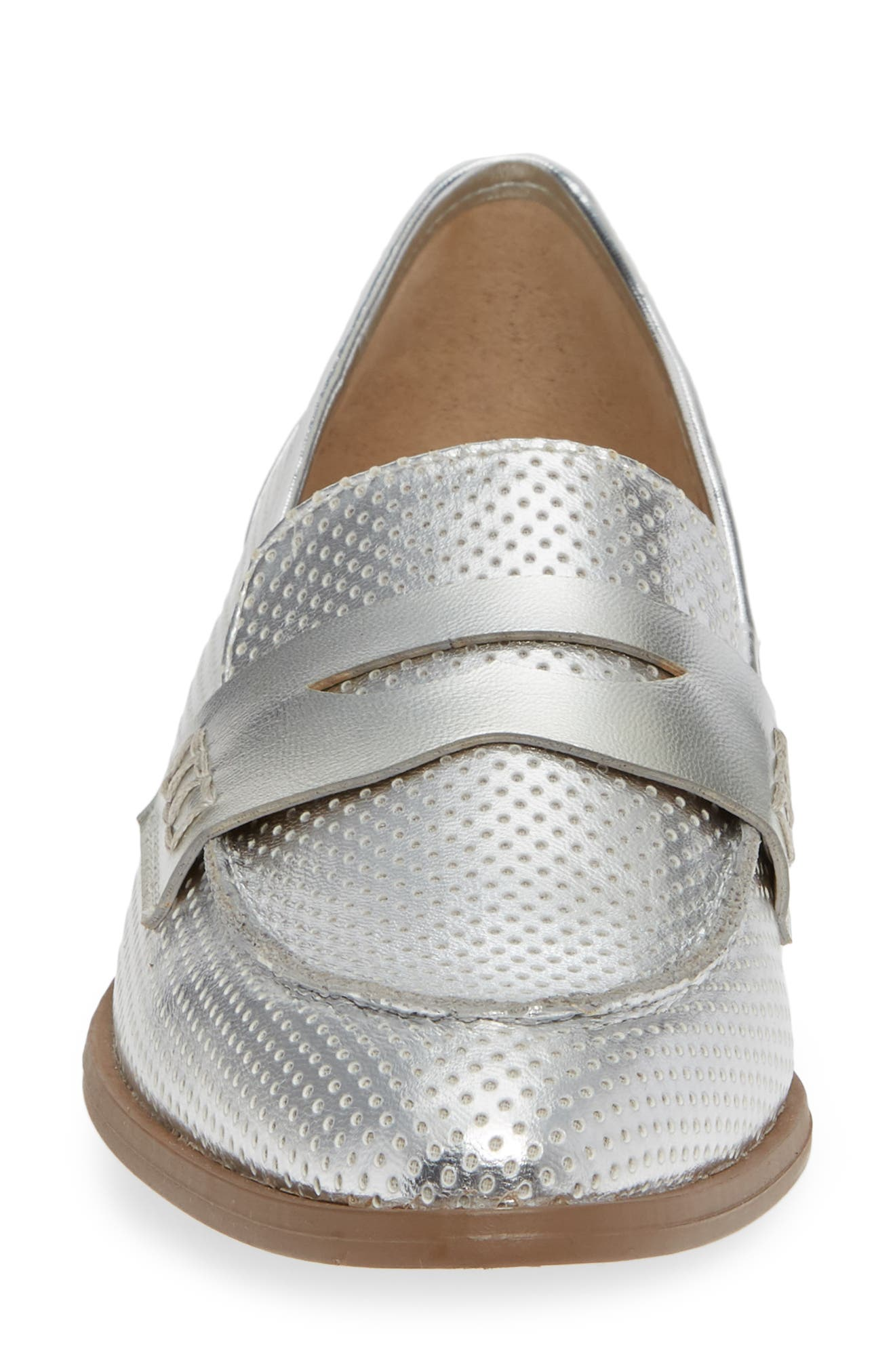 Lewis Loafer,                             Alternate thumbnail 4, color,                             SILVER