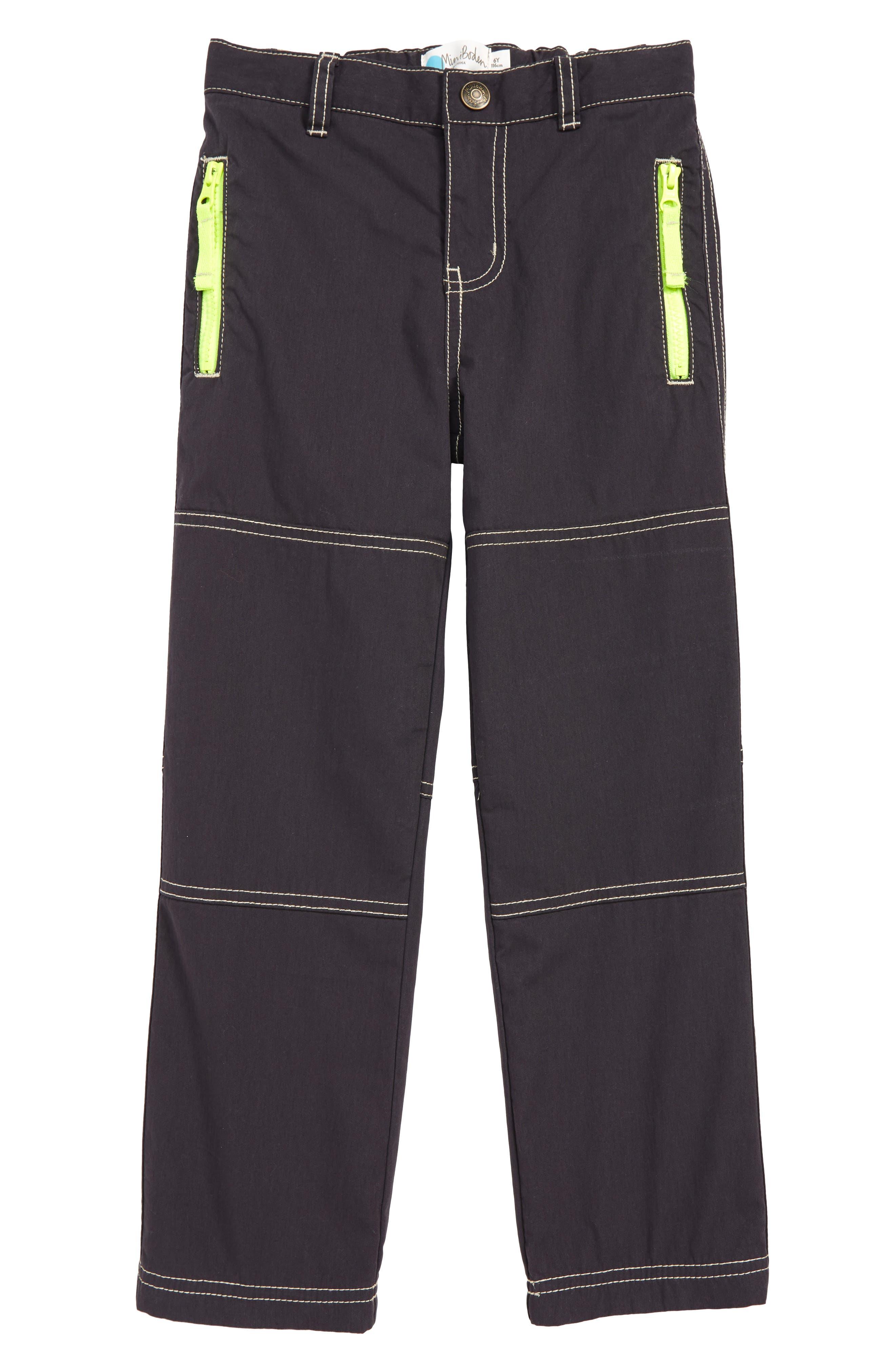 Boys Mini Boden Lined Skate Pants Size 7Y  Grey