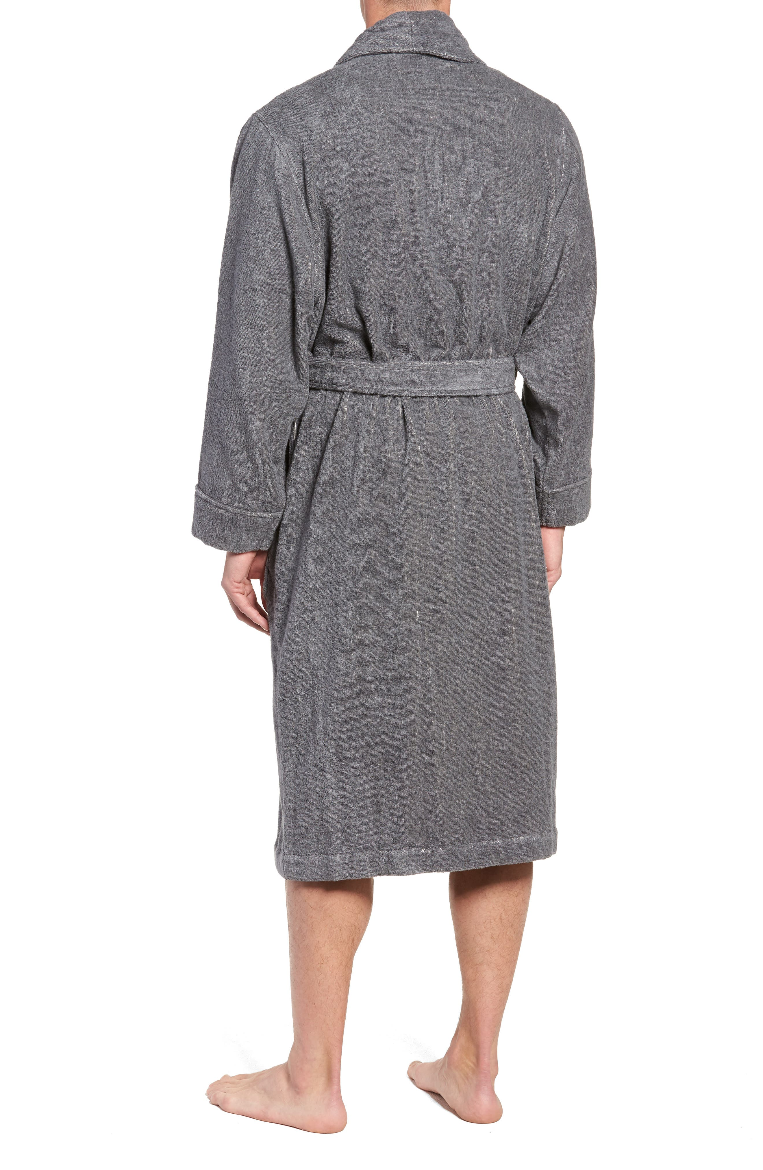 Hydro Cotton Terry Robe,                             Alternate thumbnail 2, color,                             CHARCOAL HEATHER