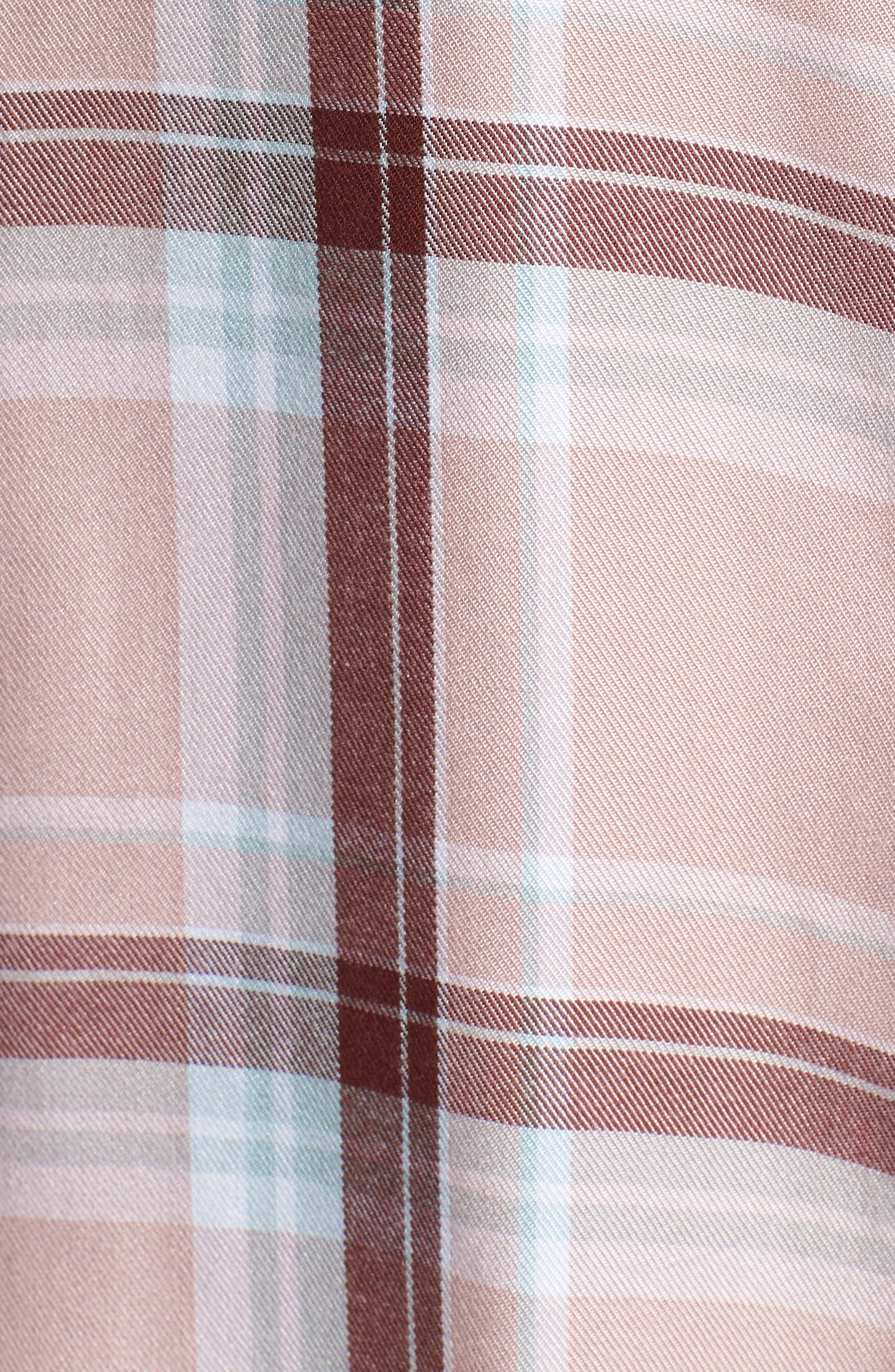 Plaid Boyfriend Shirt,                             Alternate thumbnail 26, color,