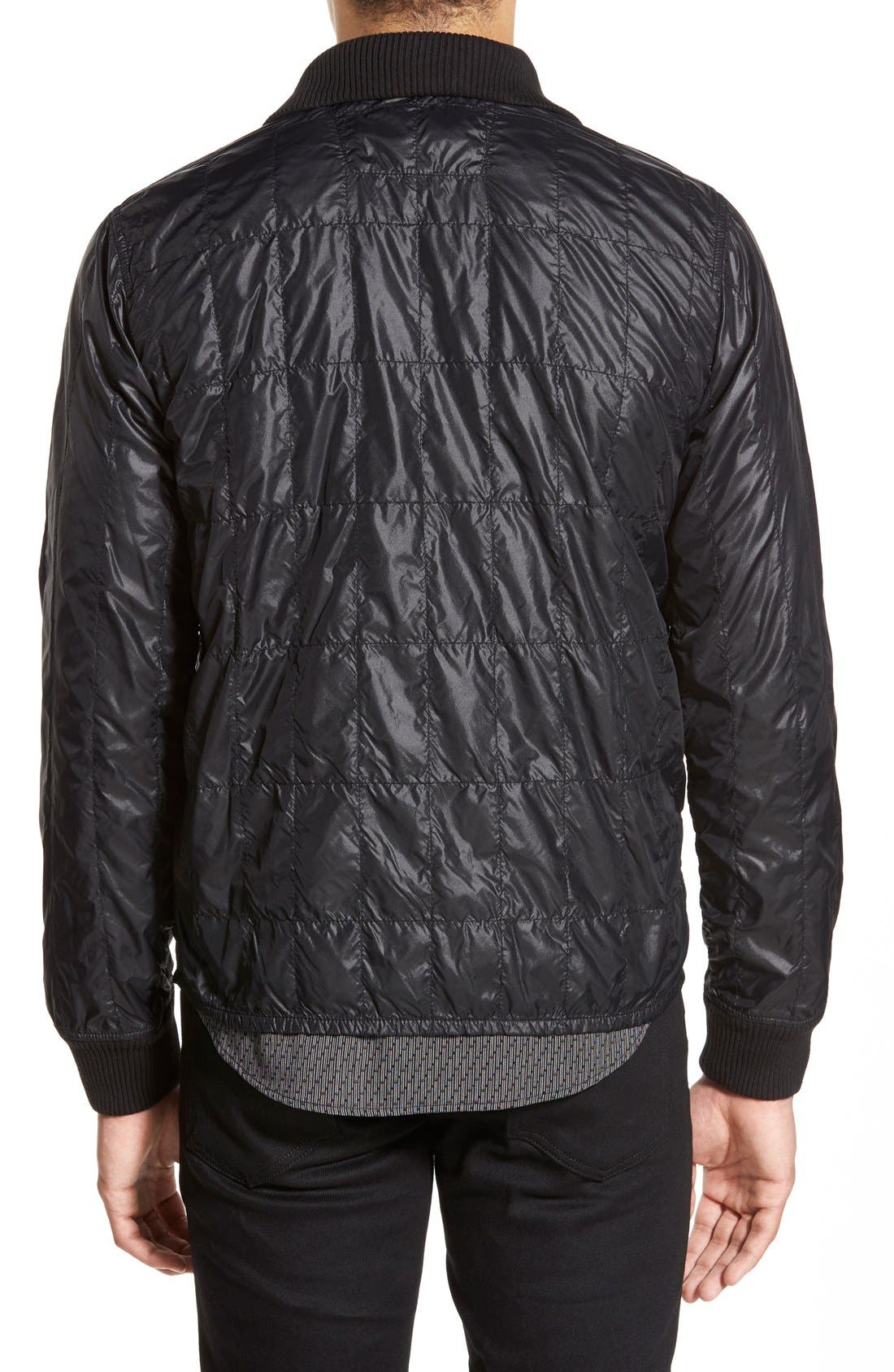 Lightweight Quilted Bomber Jacket,                             Alternate thumbnail 3, color,                             001