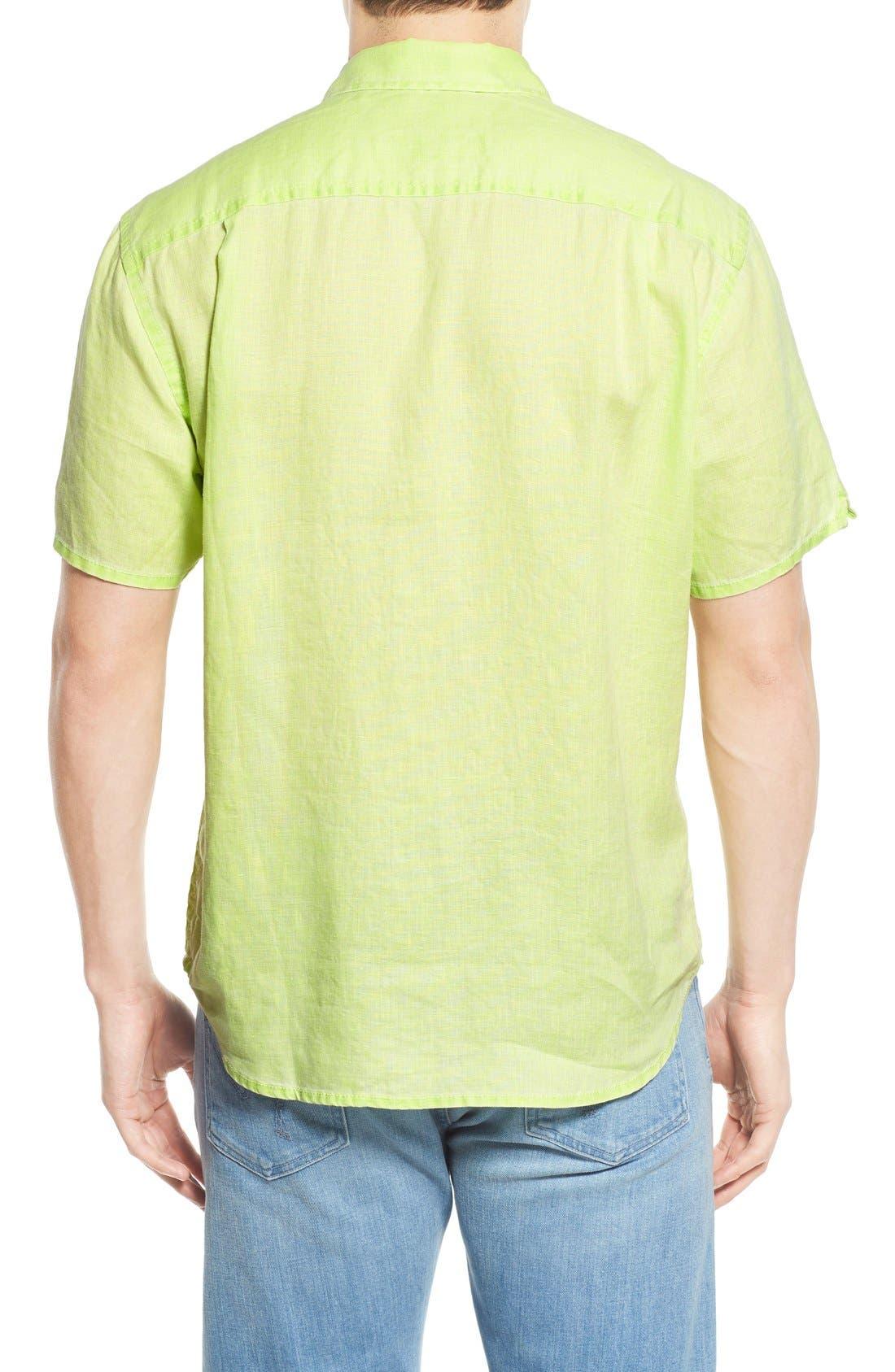 Seaglass Breezer Short Sleeve Linen Sport Shirt,                             Alternate thumbnail 24, color,