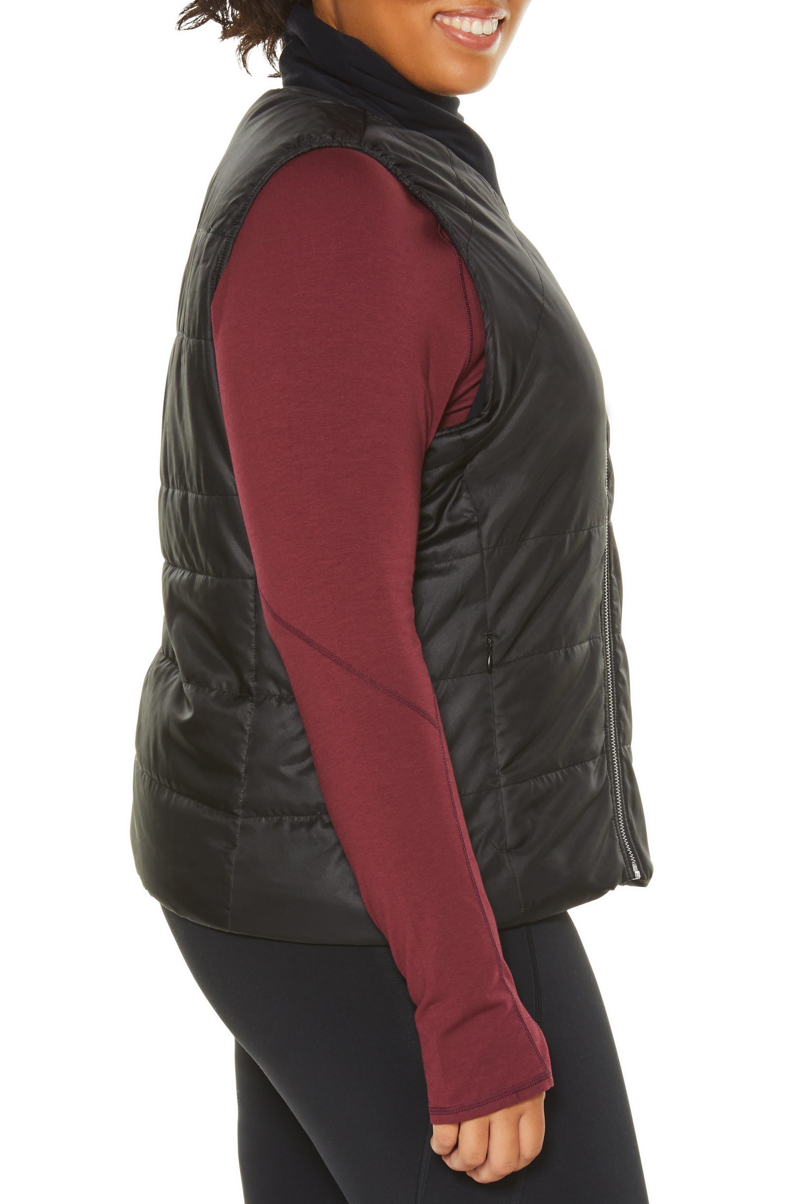 Glamour Puffer Vest,                             Alternate thumbnail 2, color,                             BLACK