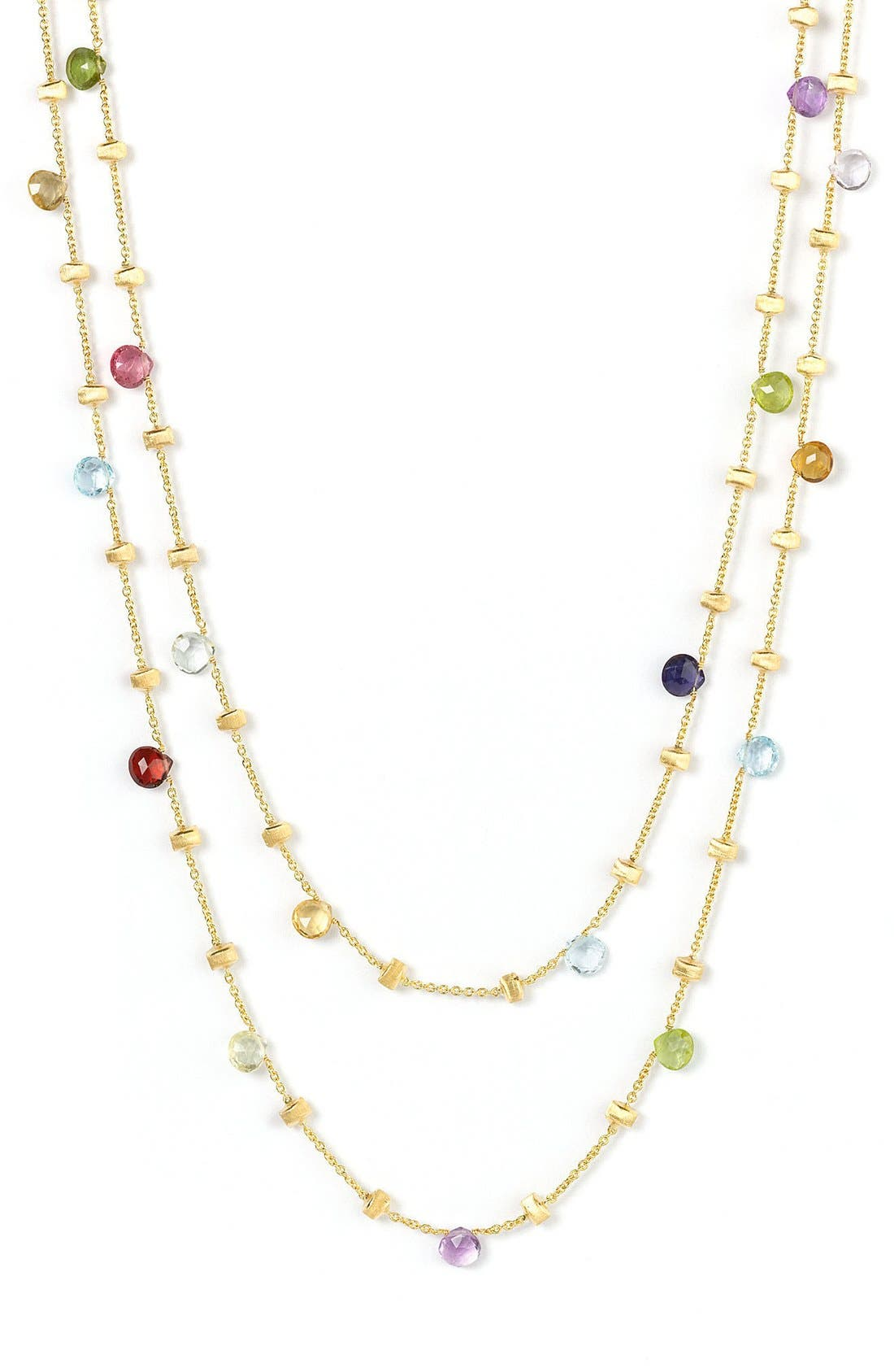 'Paradise' Semiprecious Stone Long Necklace,                             Alternate thumbnail 2, color,                             YELLOW GOLD/ MULTI