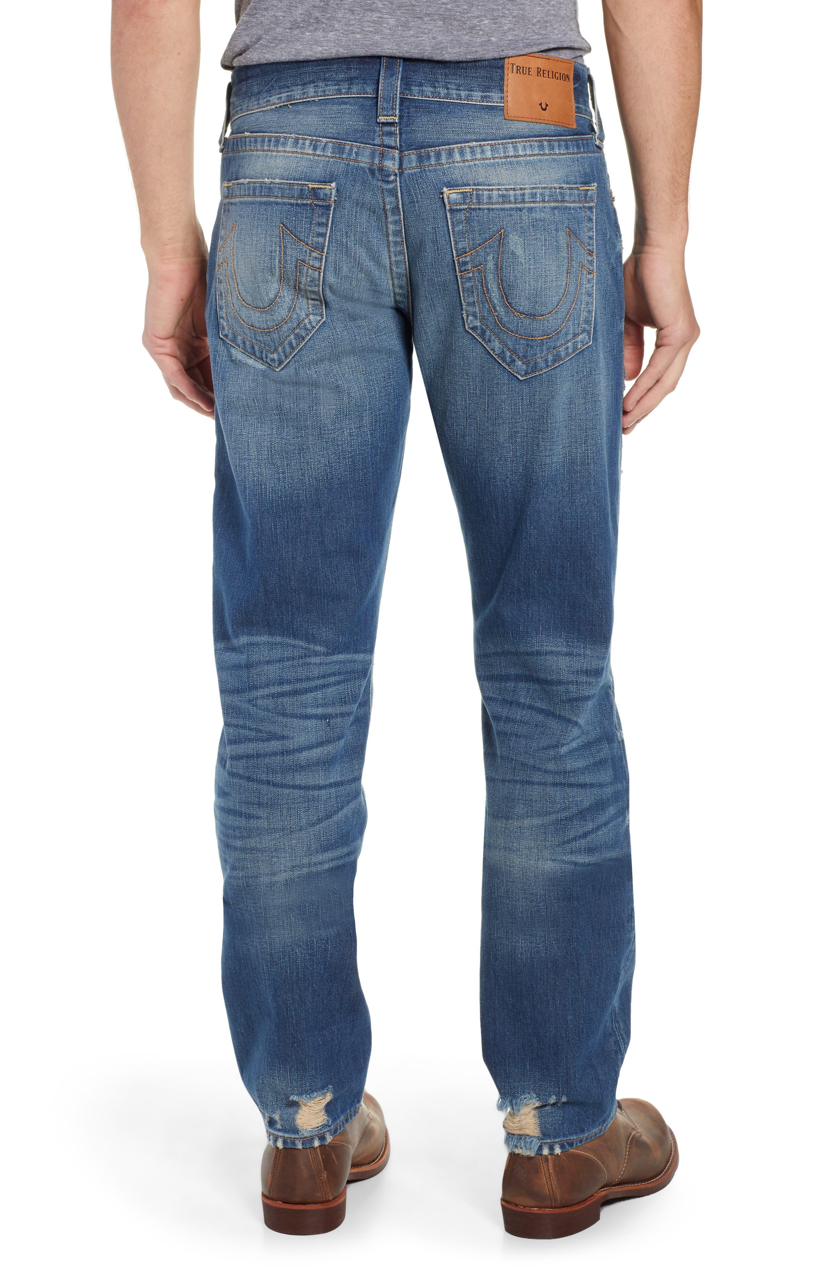 TRUE RELIGION BRAND JEANS,                             Geno Straight Leg Jeans,                             Alternate thumbnail 2, color,                             WORN REBEL