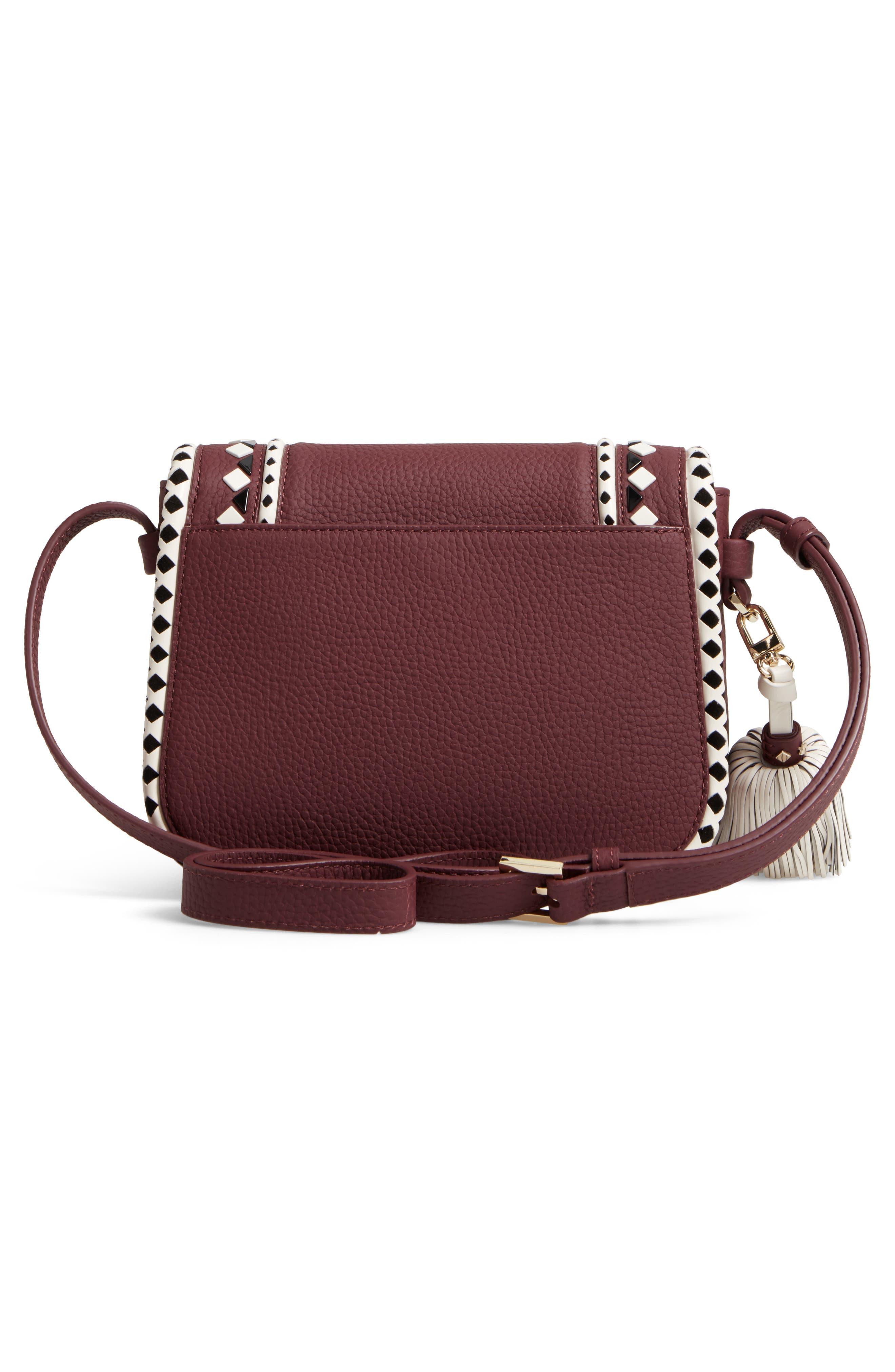 crown street - jasper leather saddle bag,                             Alternate thumbnail 6, color,