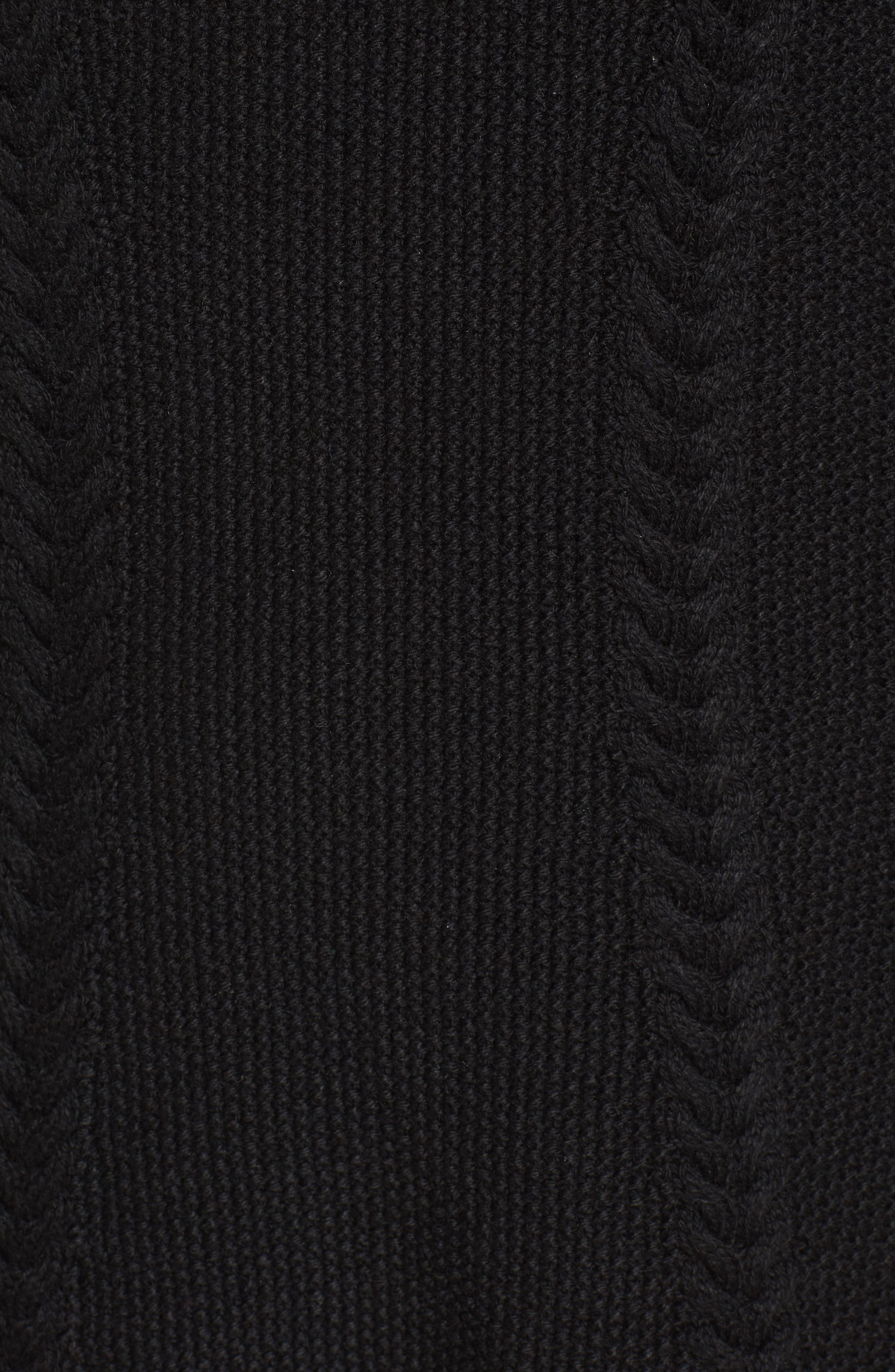 Cable Knit Sweater Dress,                             Alternate thumbnail 9, color,