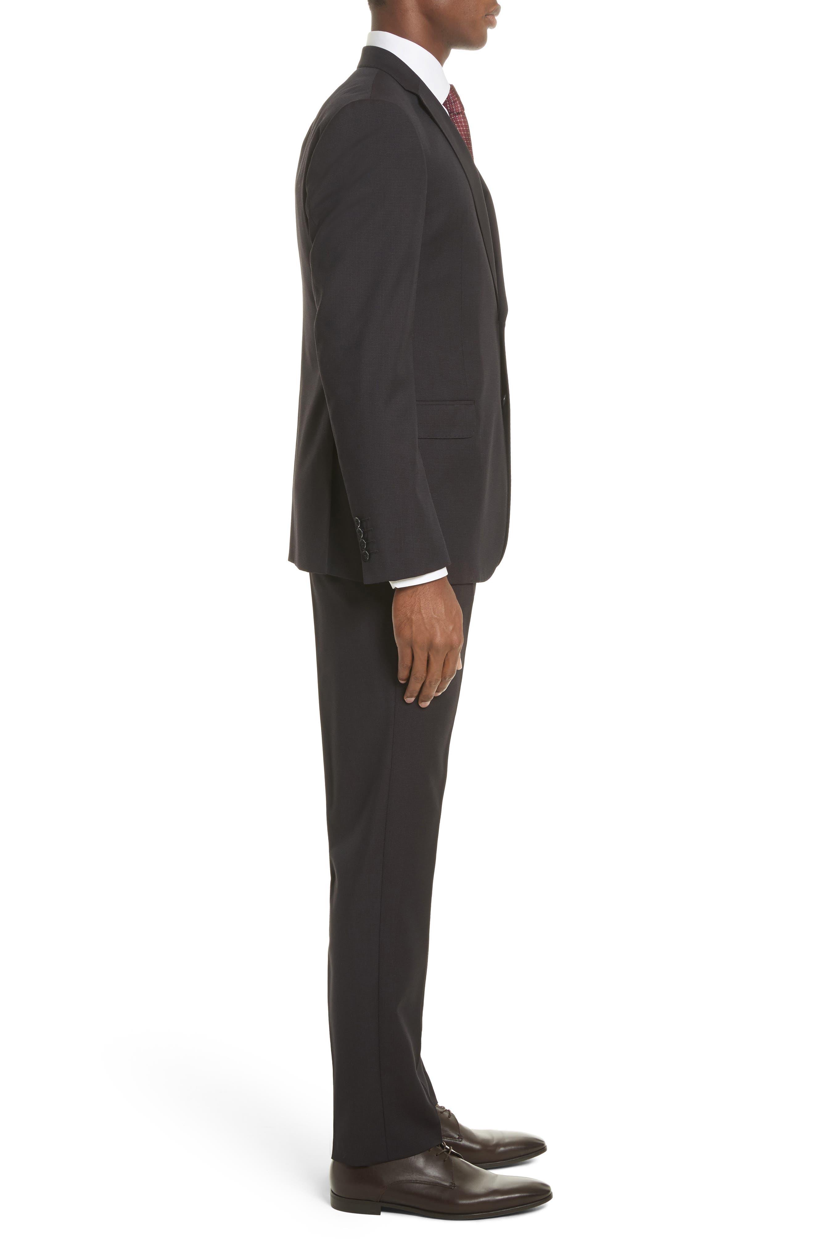 Emporio Armani M-Line Trim Fit Solid Wool Suit,                             Alternate thumbnail 3, color,                             604