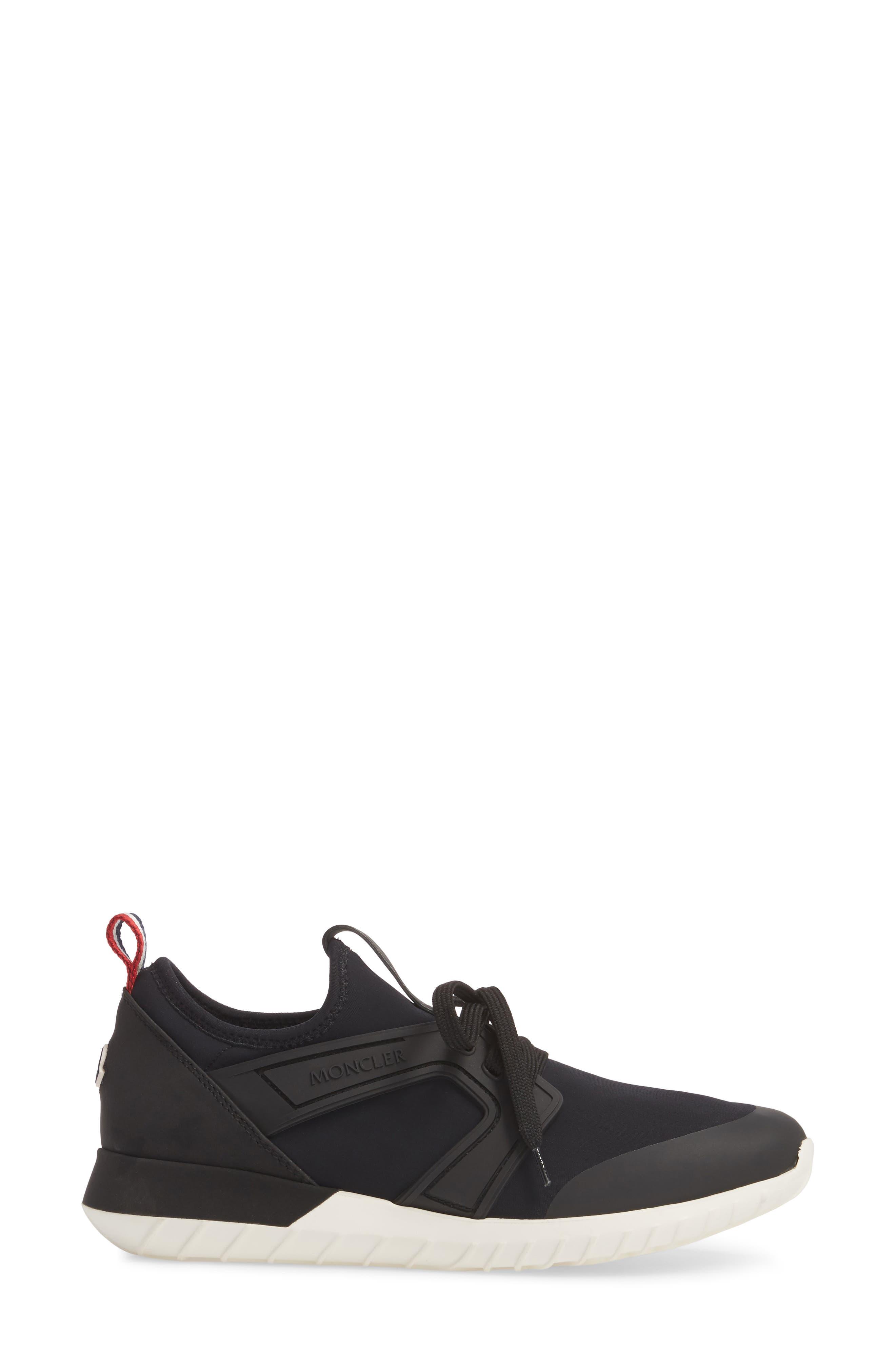 Meline Lace-Up Sneaker,                             Alternate thumbnail 3, color,                             001