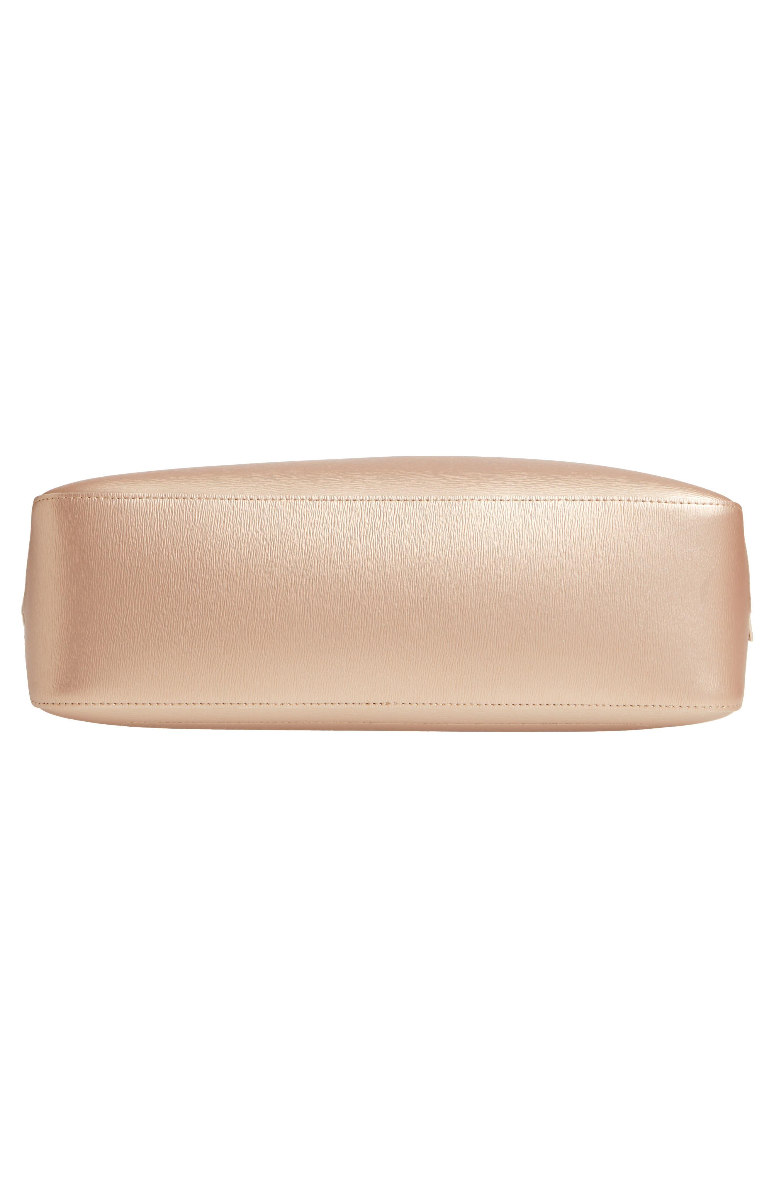 Roseau Metallic Leather Shoulder Tote,                             Alternate thumbnail 6, color,                             697