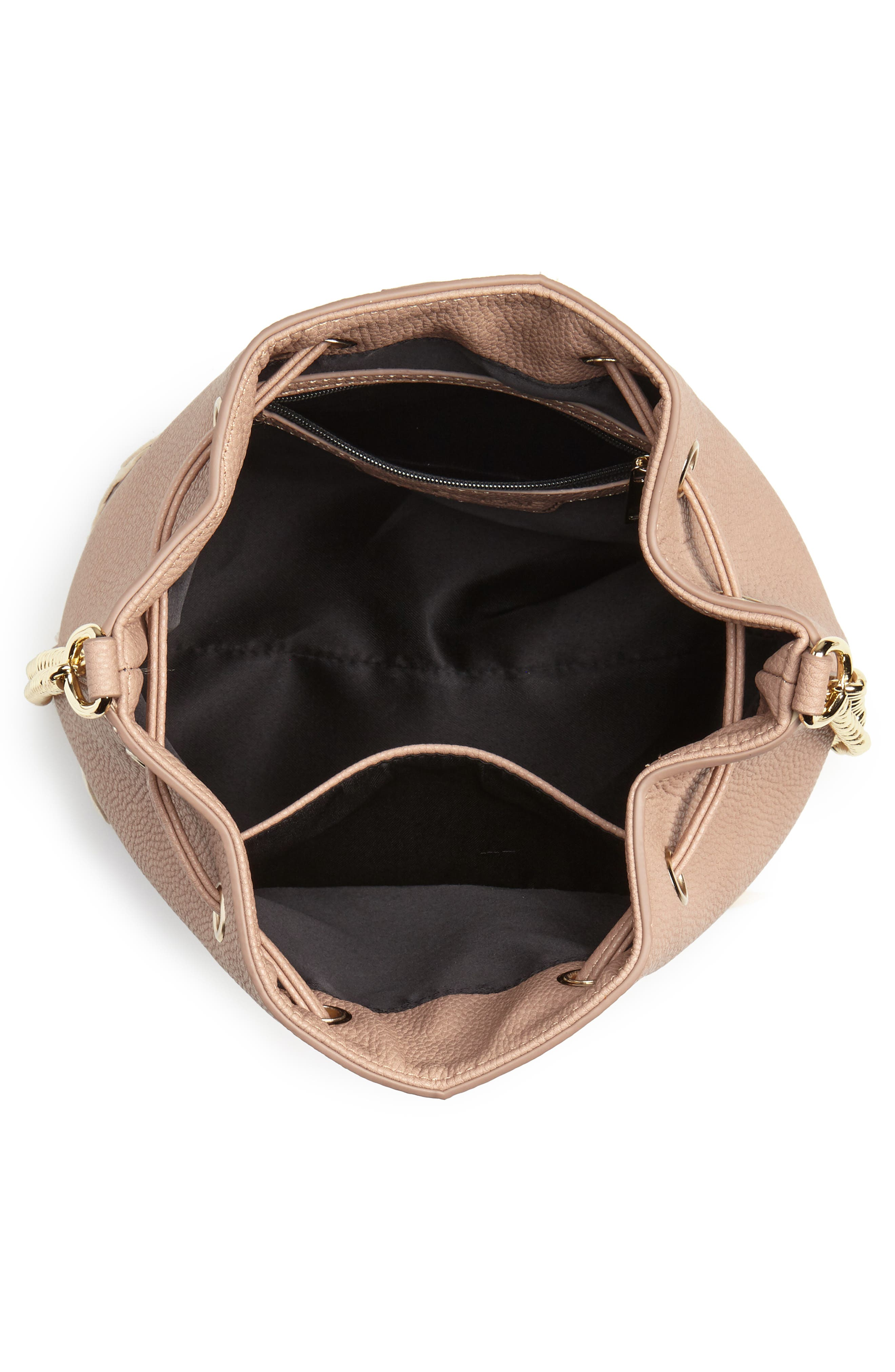 Veronica Faux Leather Bucket Bag,                             Alternate thumbnail 7, color,