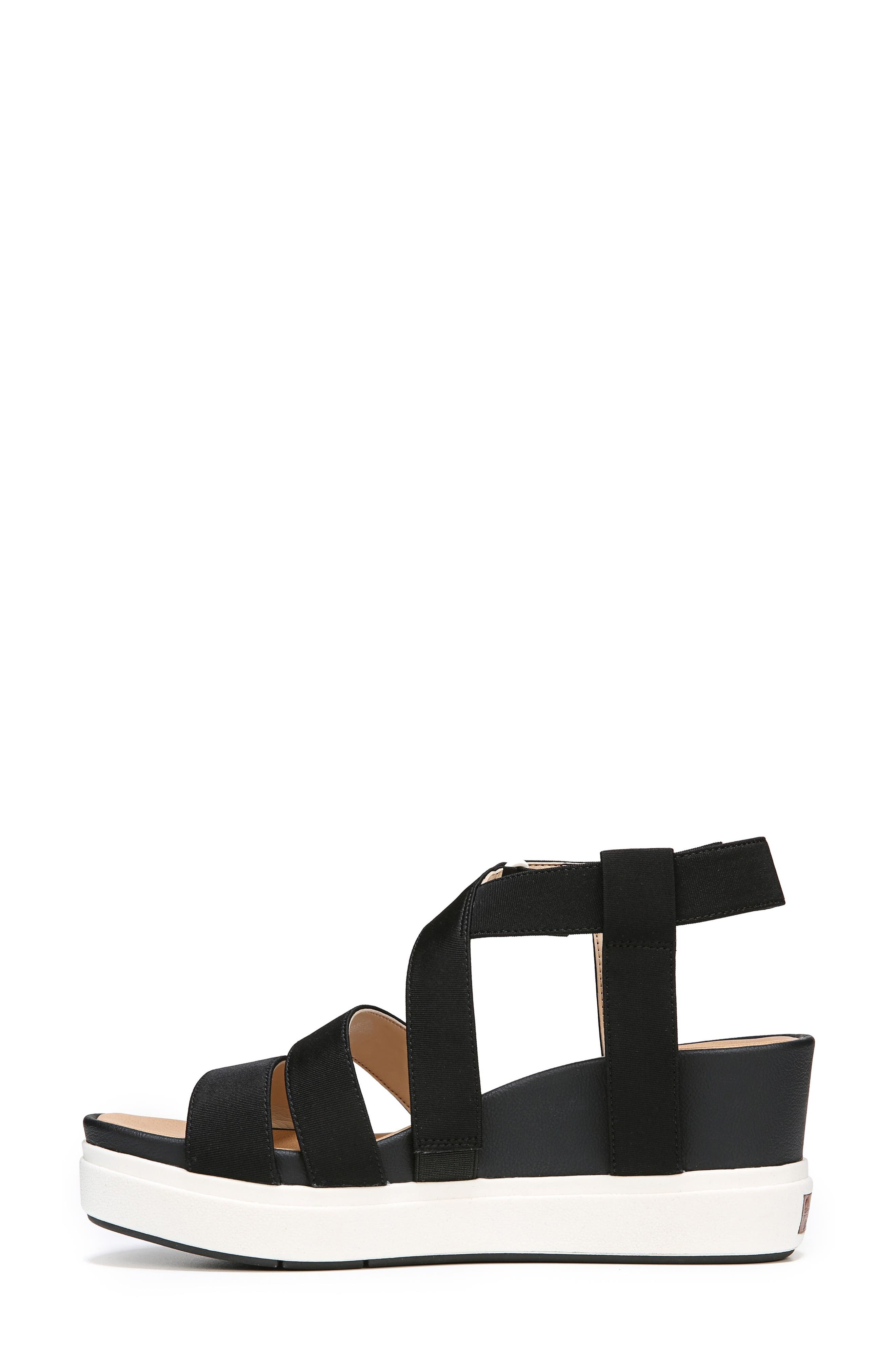 Social Wedge Sandal,                             Alternate thumbnail 3, color,                             BLACK