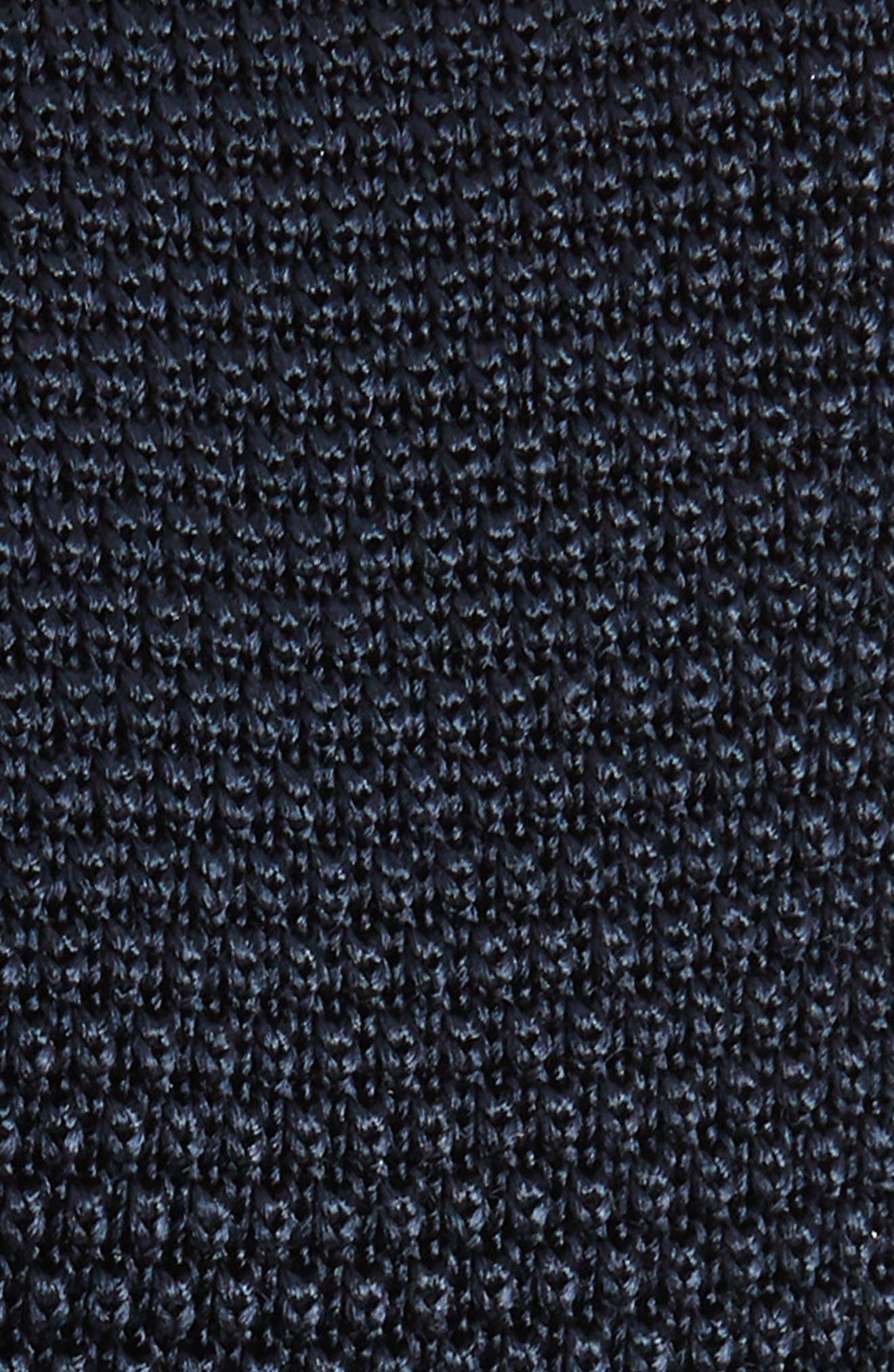 Solid Knit Silk Tie,                             Alternate thumbnail 2, color,                             OPEN BLUE