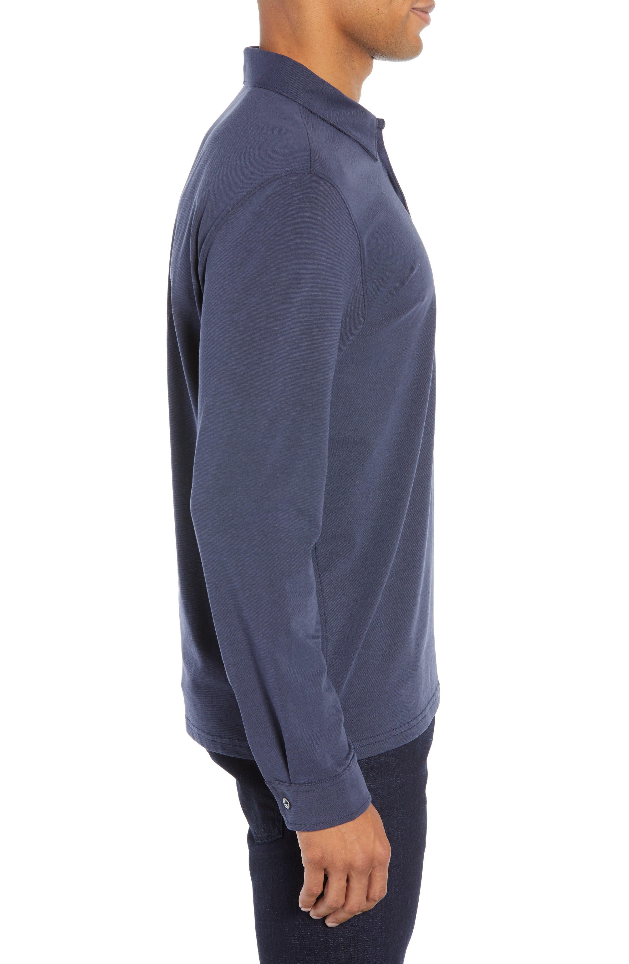 Benton Long Sleeve Polo,                             Alternate thumbnail 3, color,                             MIDNIGHT