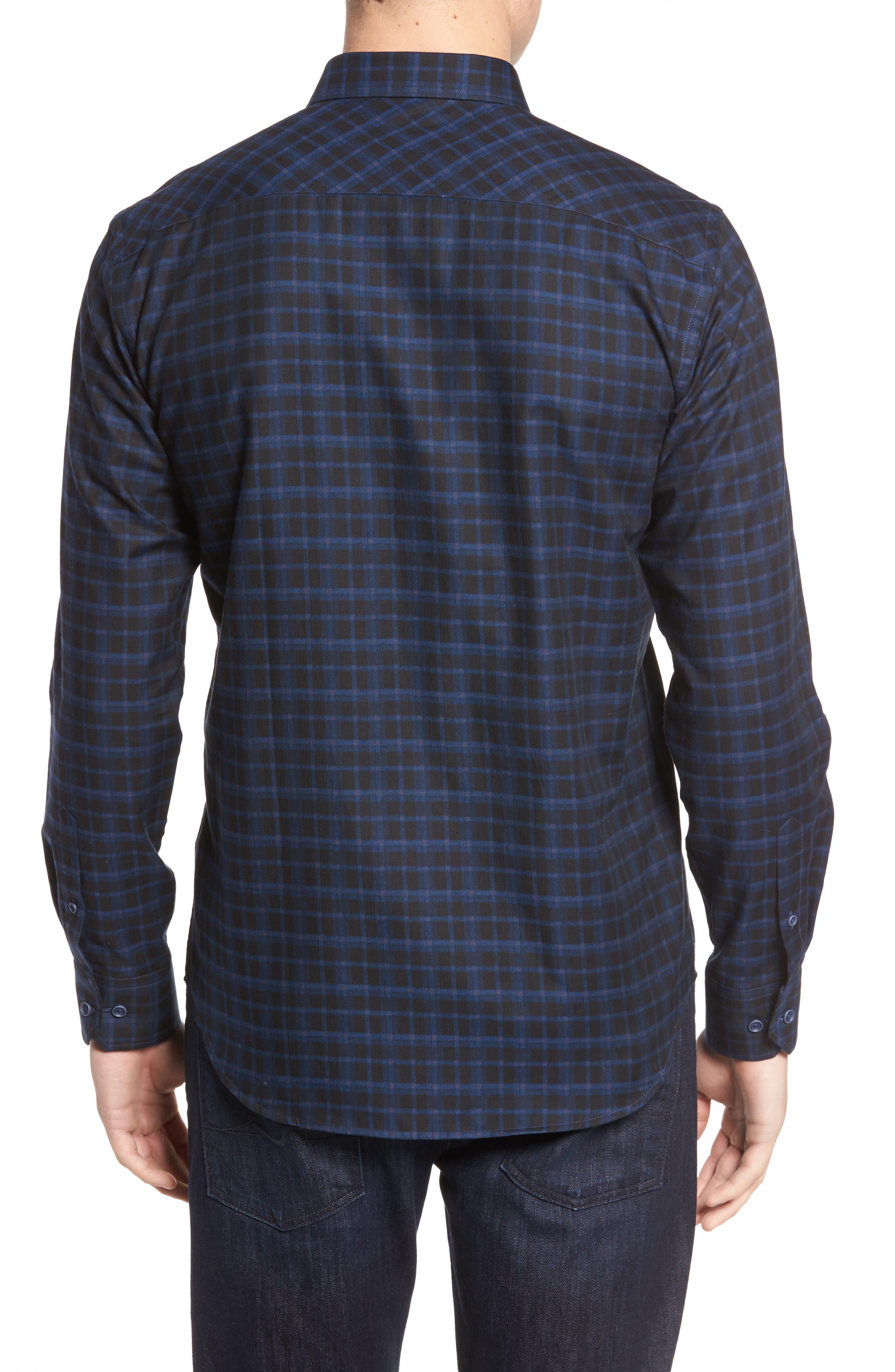 Shaped Fit Plaid Sport Shirt,                             Alternate thumbnail 2, color,                             410