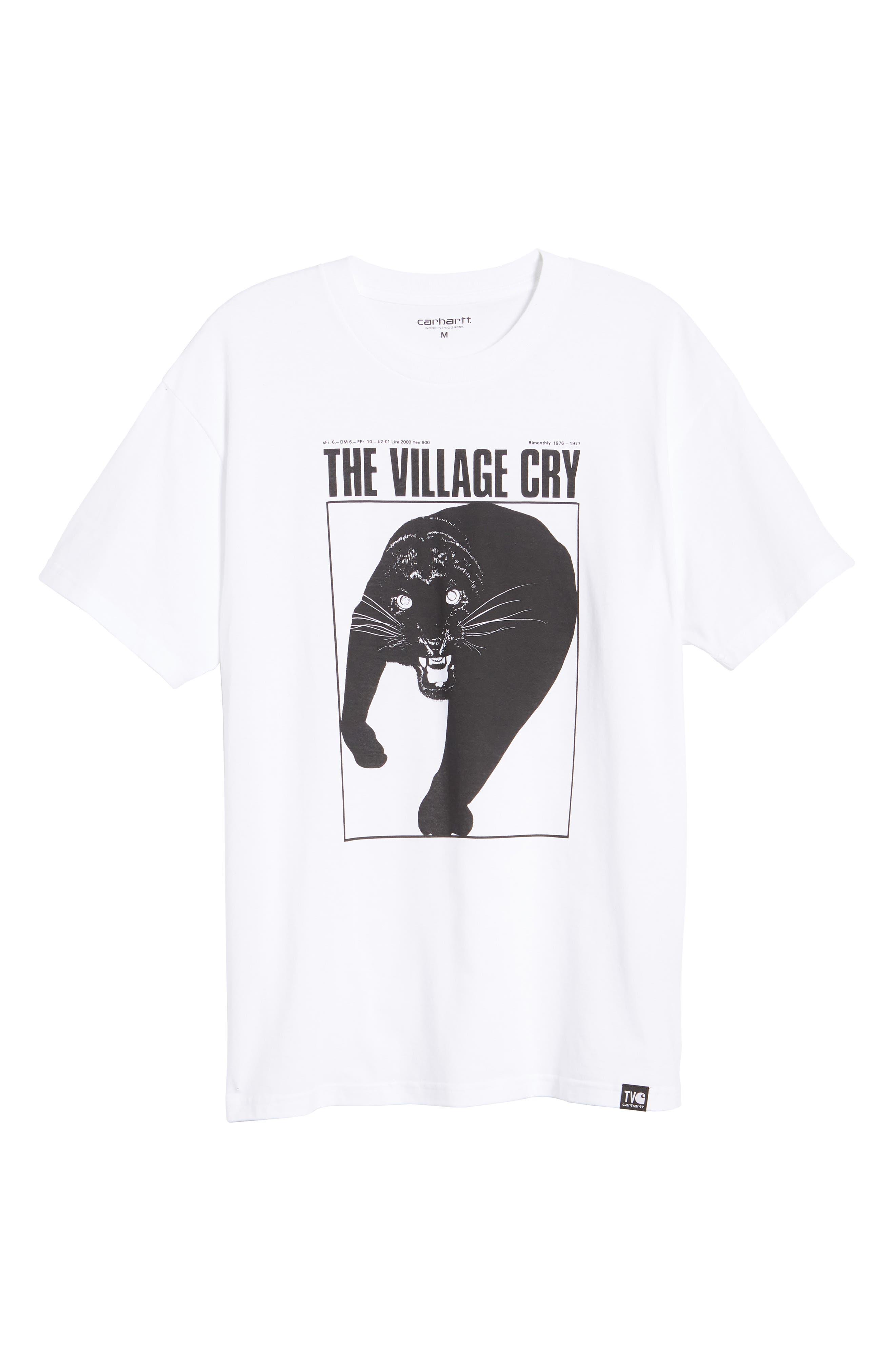 Panther Graphic T-Shirt,                             Alternate thumbnail 6, color,                             WHITE / BLACK