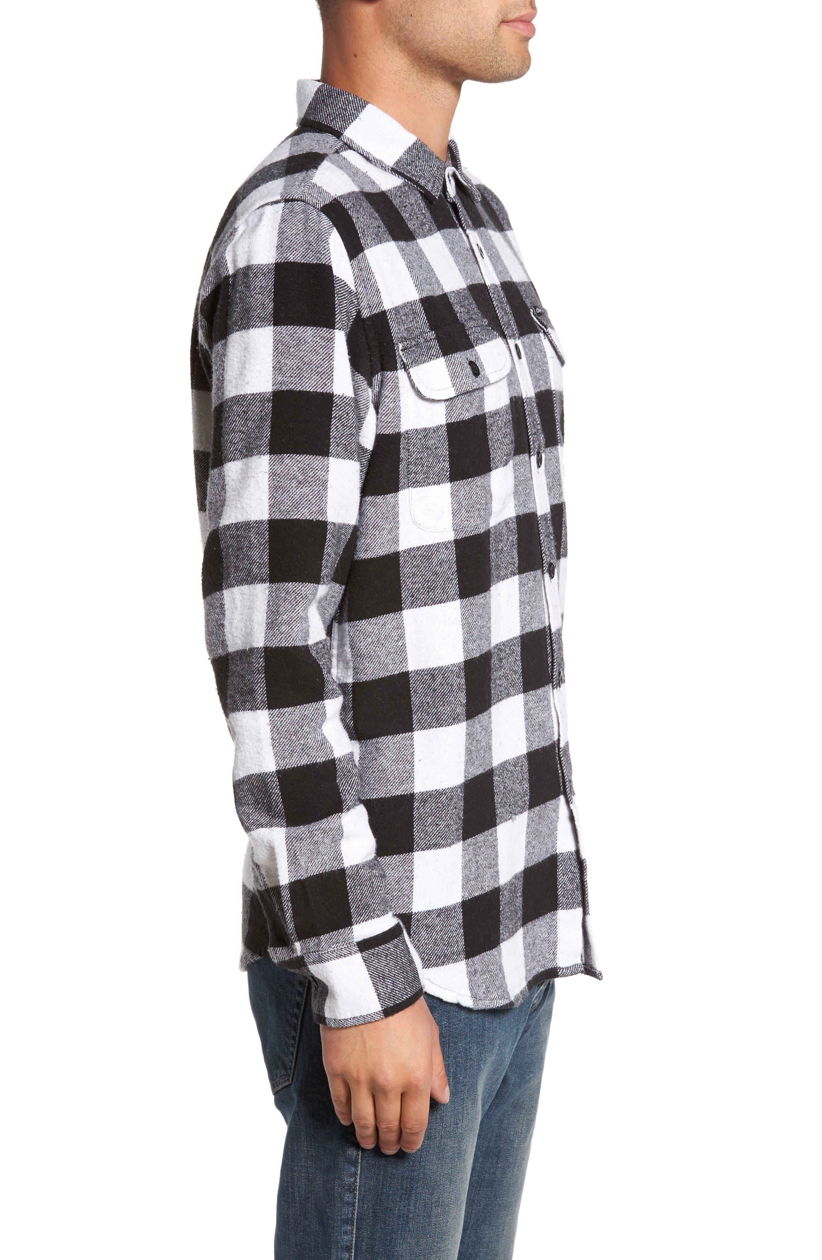 Trent Check Woven Shirt,                             Alternate thumbnail 3, color,                             002