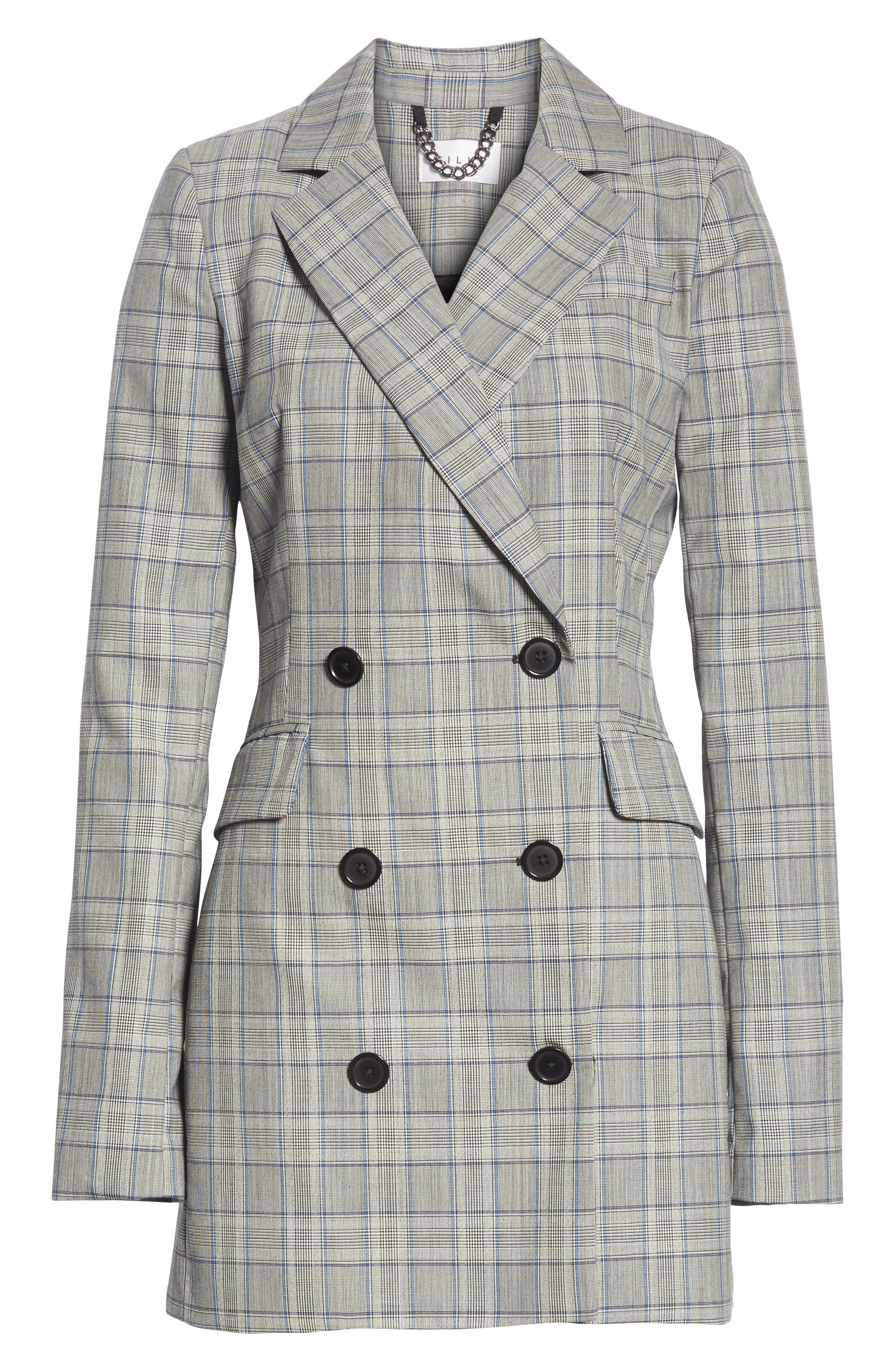 Cotton Suiting Blazer Dress,                             Alternate thumbnail 6, color,                             087