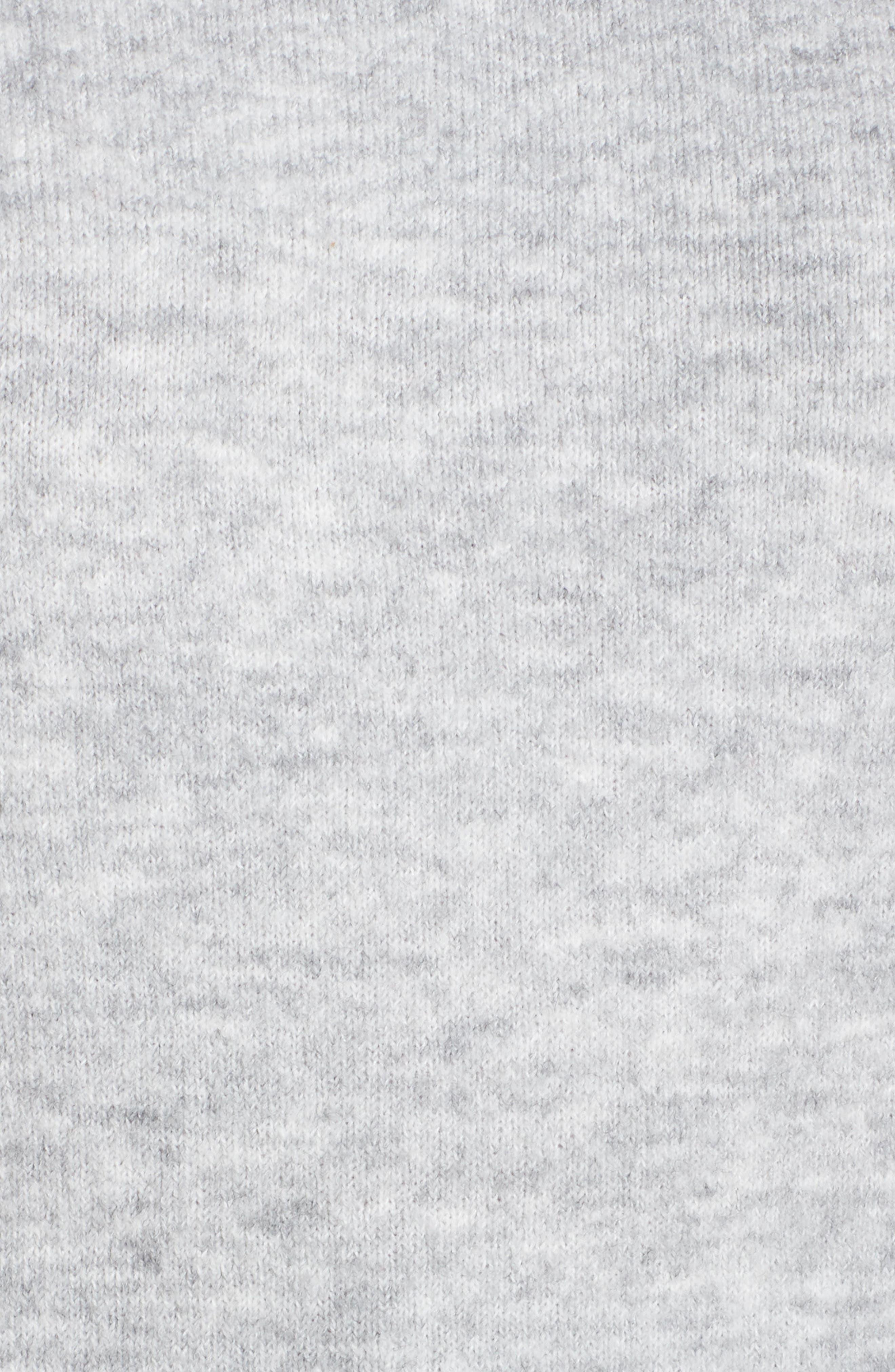 Cozy Crewneck Sweater,                             Alternate thumbnail 5, color,                             GREY HEATHER