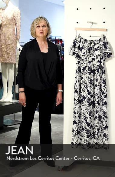 Off the Shoulder Ruffle Maxi Dress, sales video thumbnail