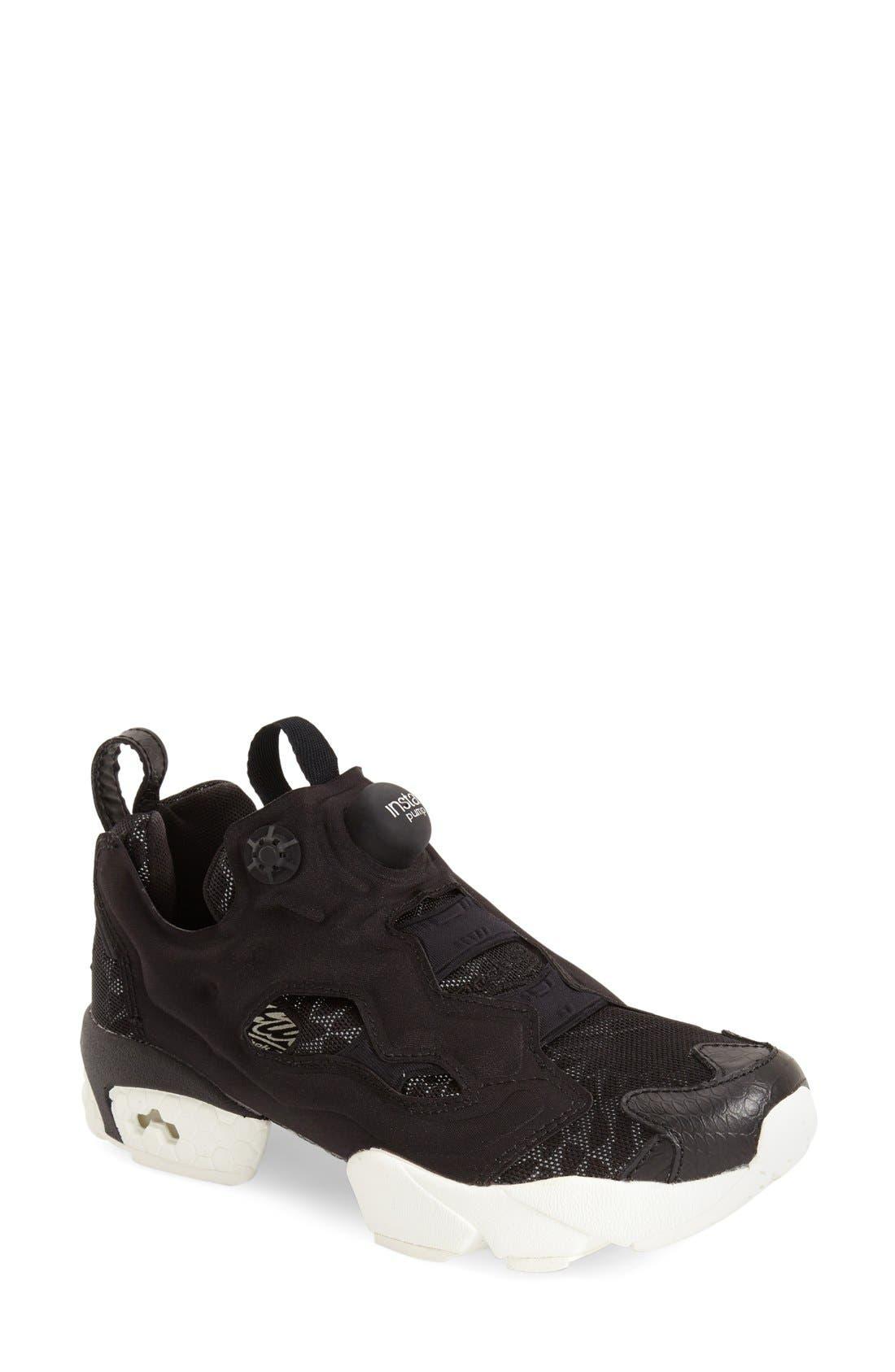 'Instapump Fury Tech' Sneaker, Main, color, 001