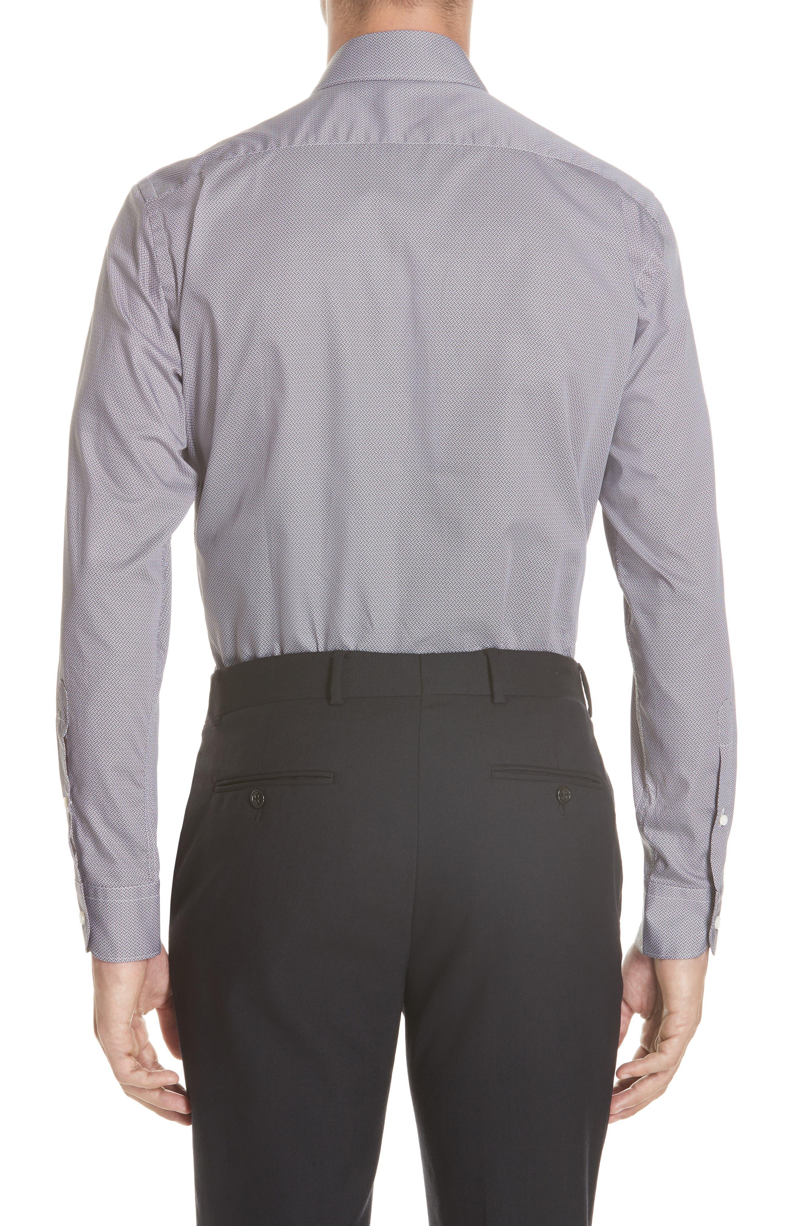 Classic Fit Geometric Sport Shirt,                             Alternate thumbnail 3, color,                             200