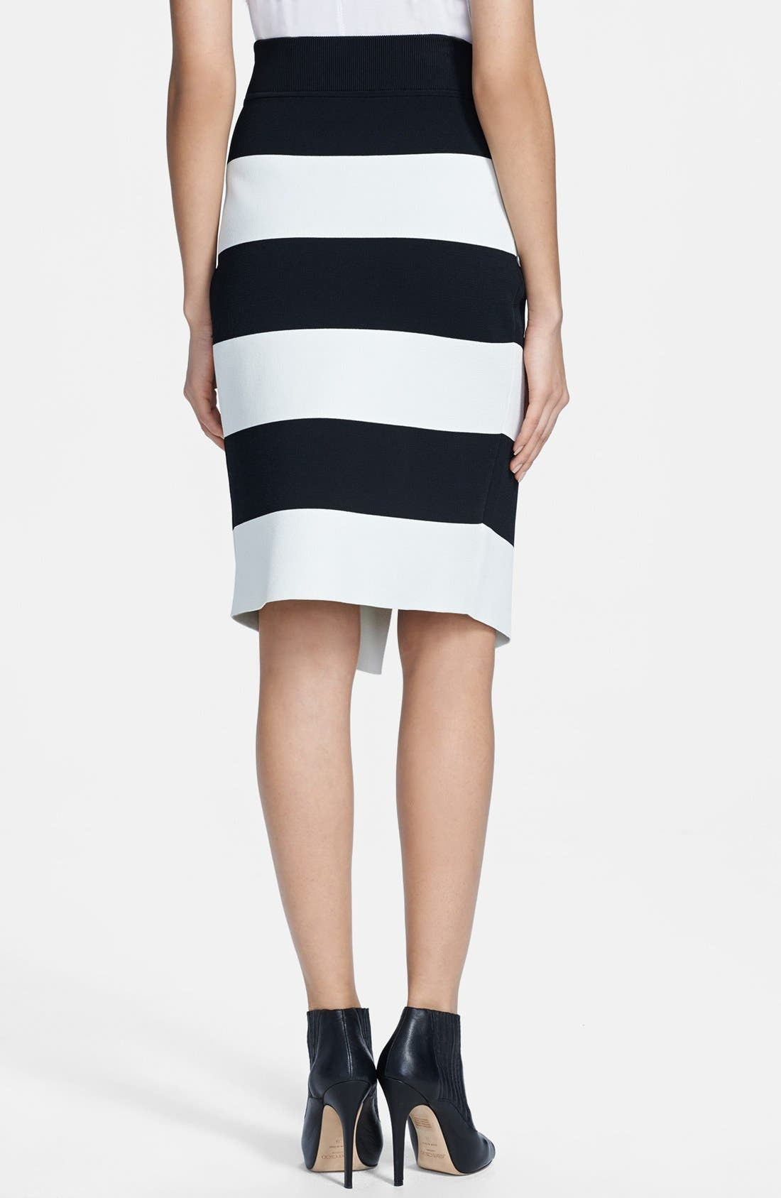 A.L.C.,                             'Campbell' Stripe Skirt,                             Alternate thumbnail 3, color,                             001