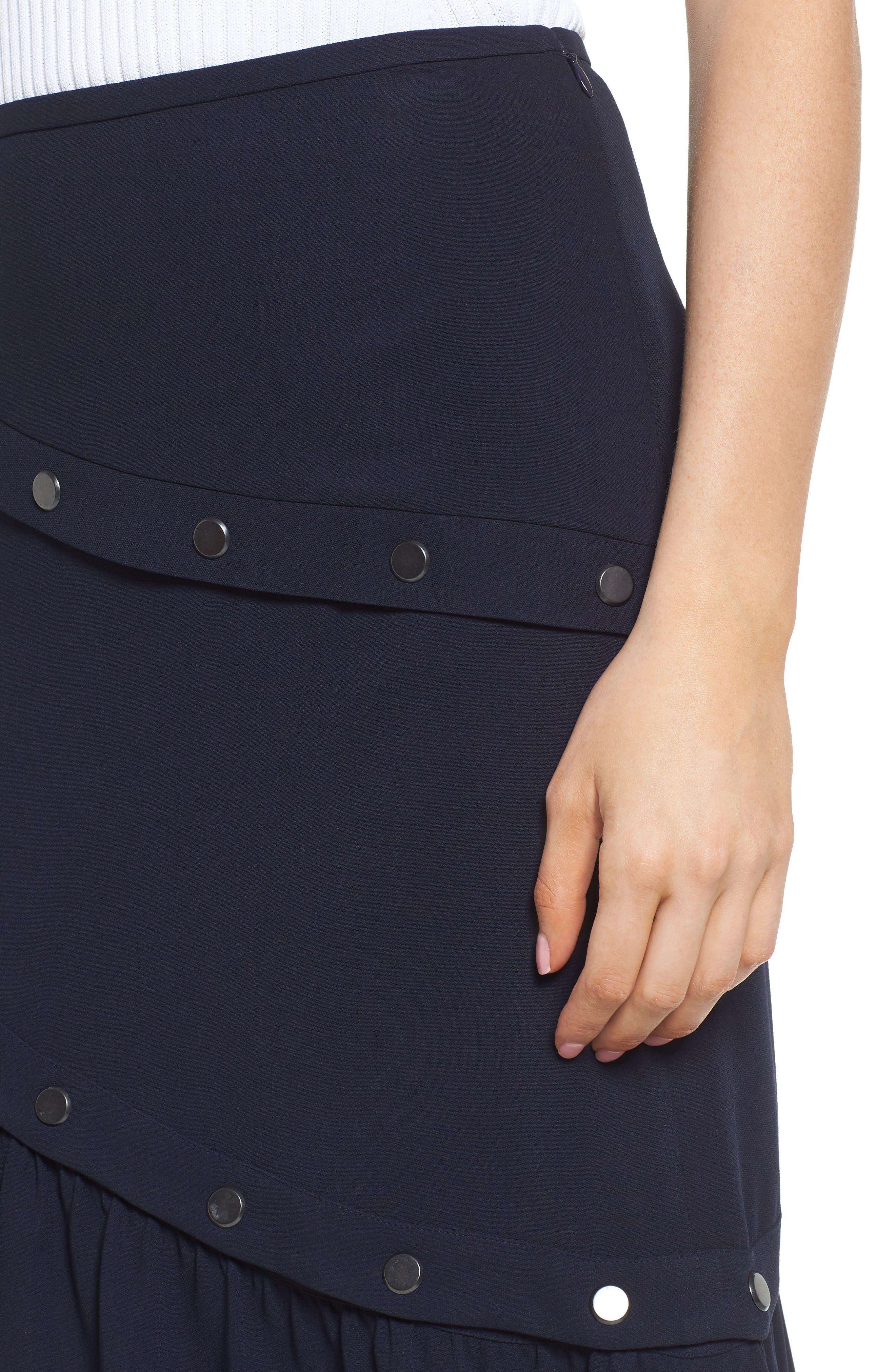 Snap Detail Skirt,                             Alternate thumbnail 4, color,                             410