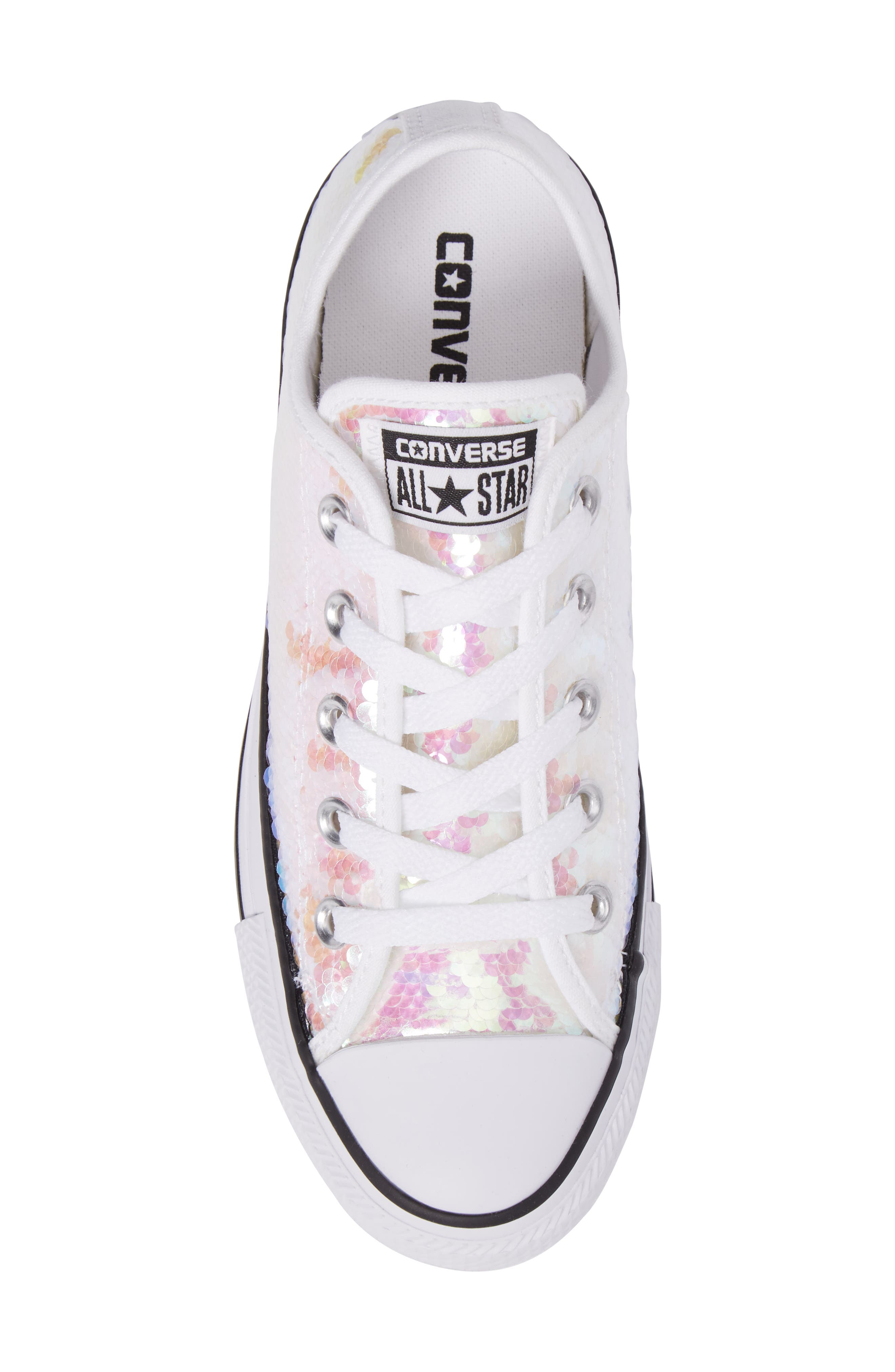 Chuck Taylor<sup>®</sup> All Star<sup>®</sup> Sequin Low Top Sneaker,                             Alternate thumbnail 10, color,