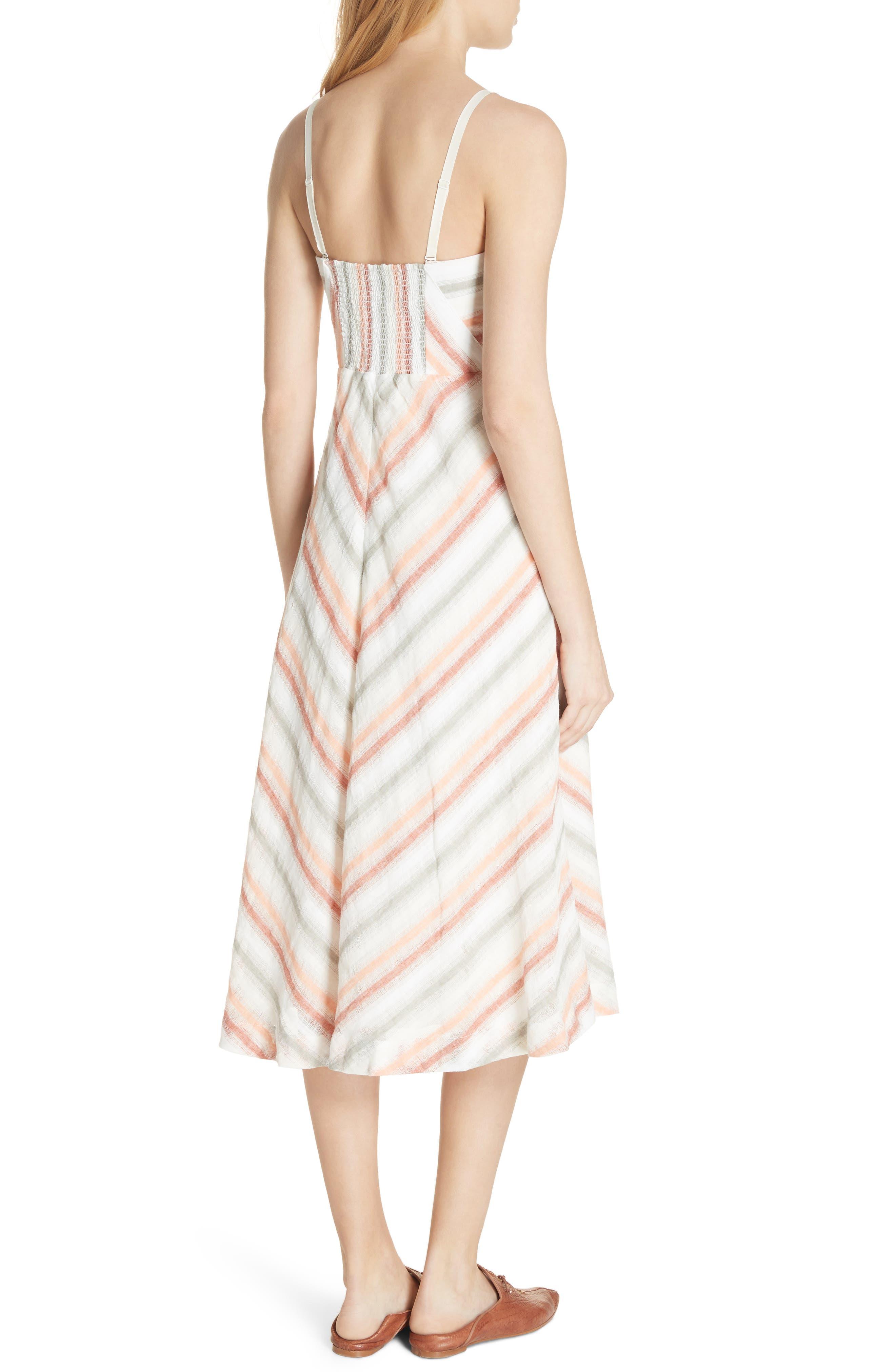 Striking Stripe Midi Dress,                             Alternate thumbnail 2, color,                             903