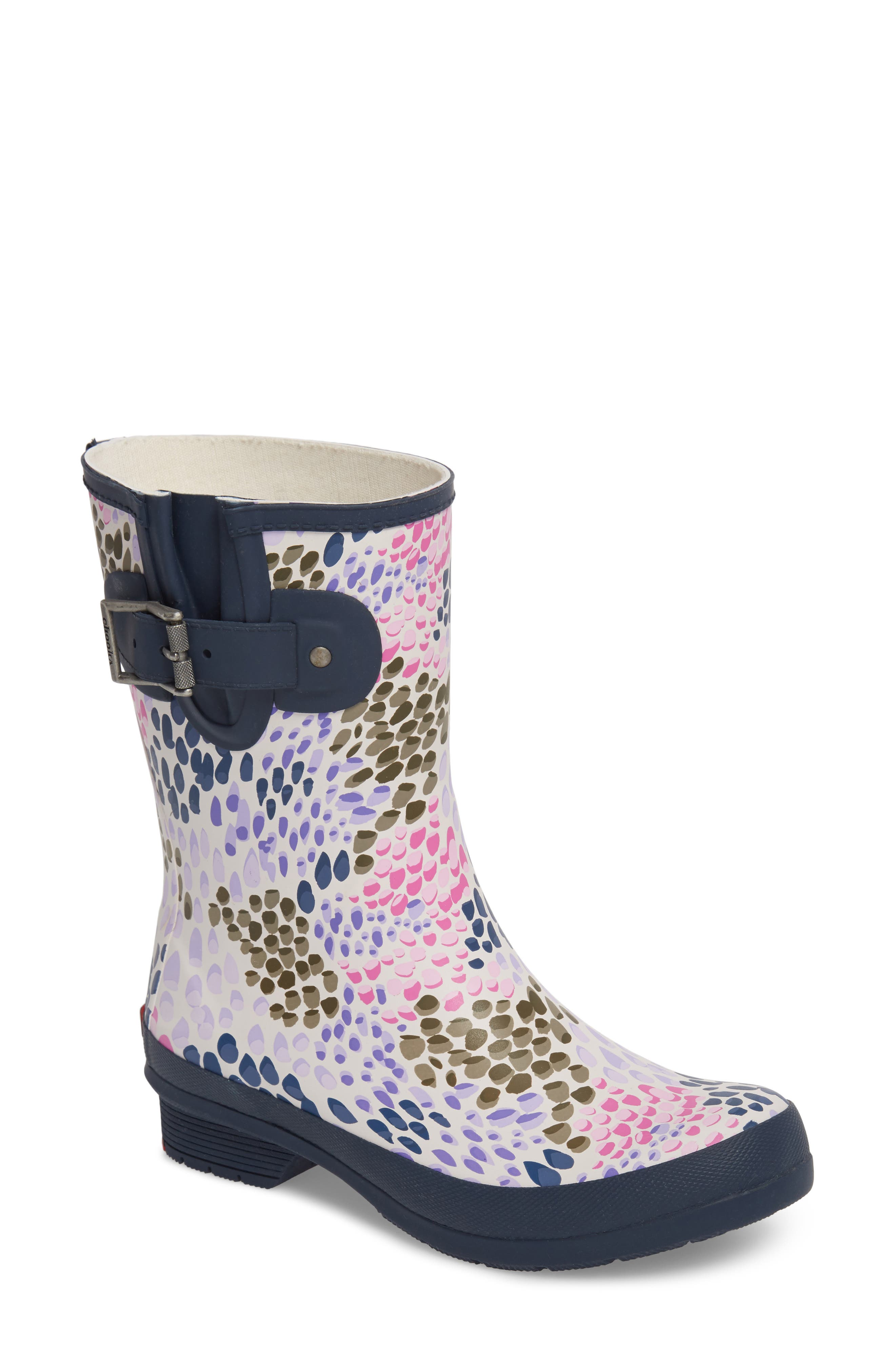 Tillie Mid Rain Boot,                         Main,                         color, NAVY