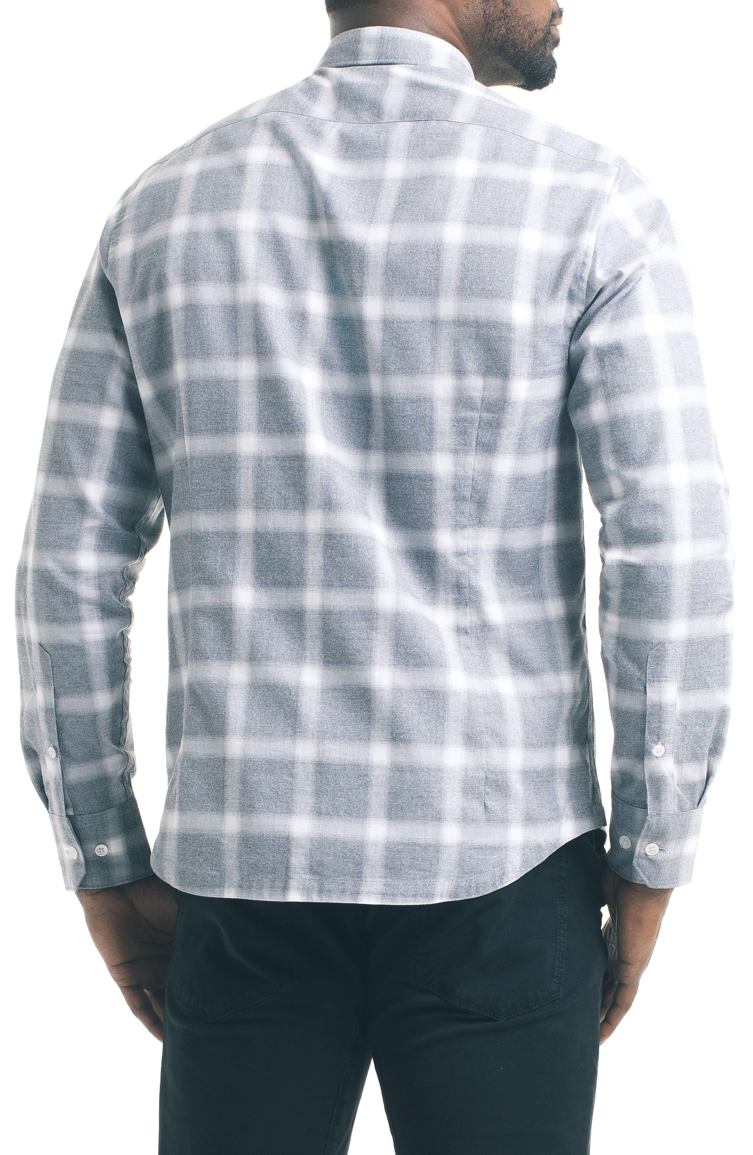 Slim Windowpane Sport Shirt,                             Alternate thumbnail 2, color,                             020