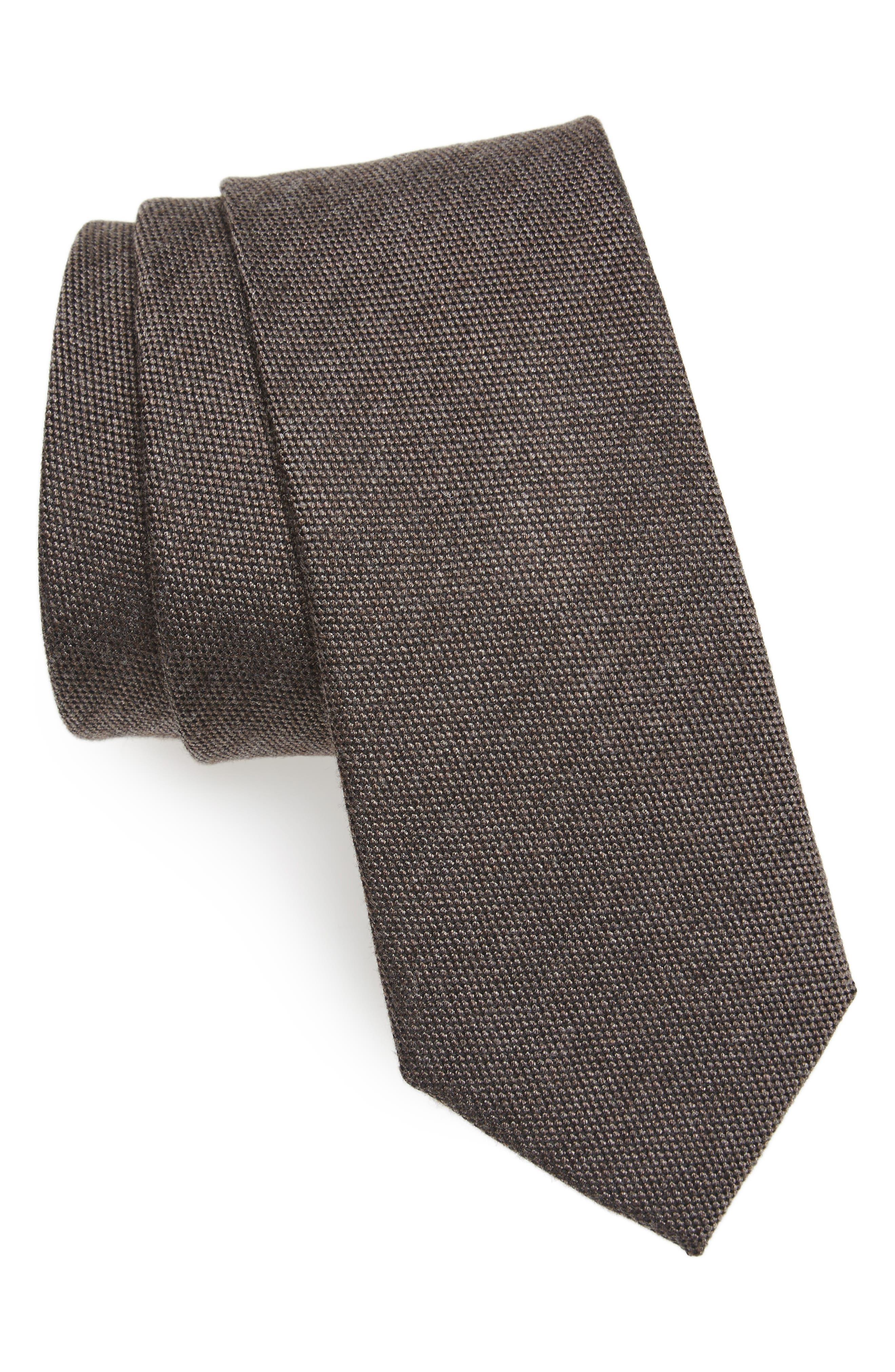 Solid Skinny Tie,                         Main,                         color, 200