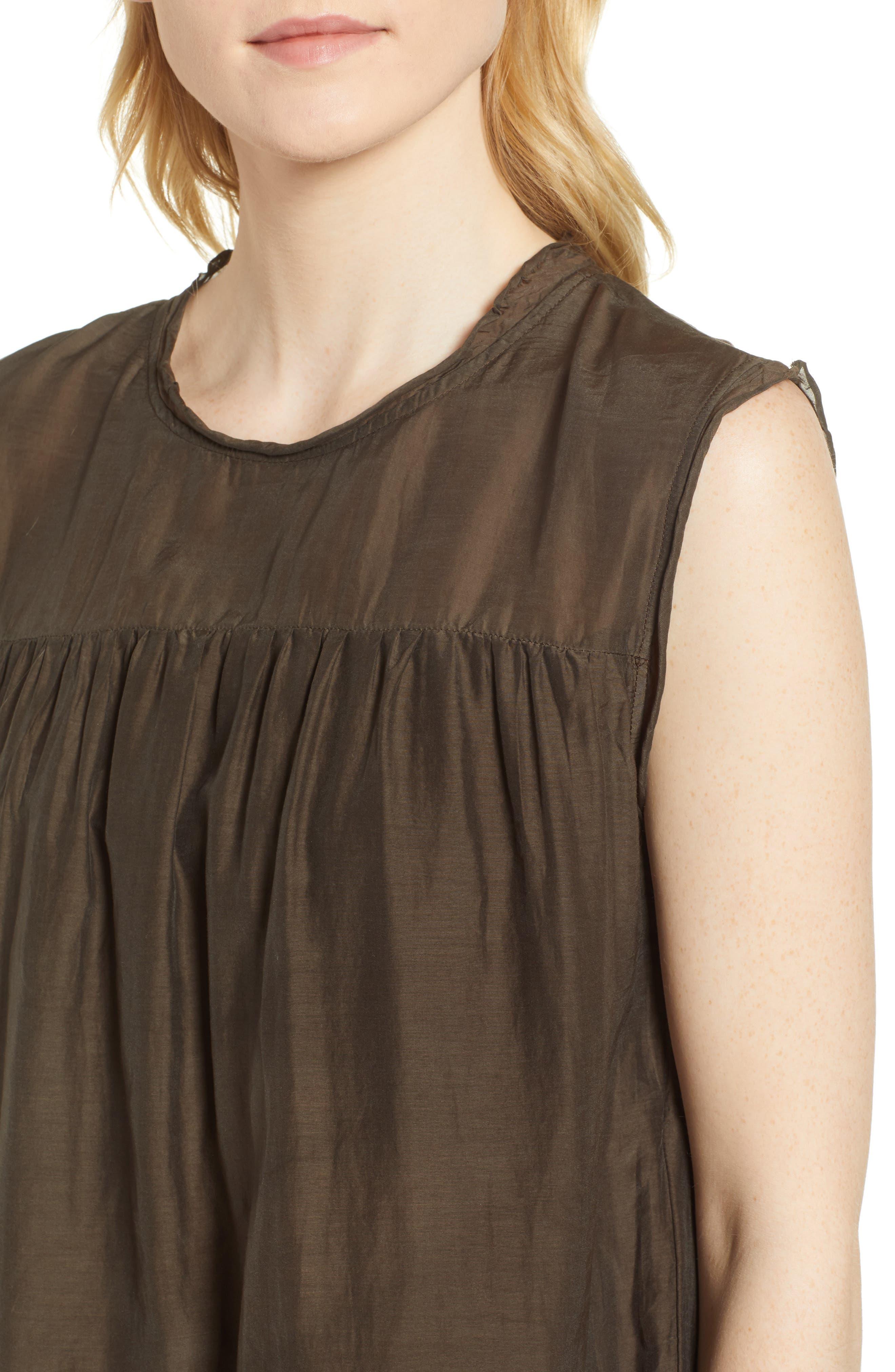Cotton Silk Voile Tiered Dress,                             Alternate thumbnail 4, color,