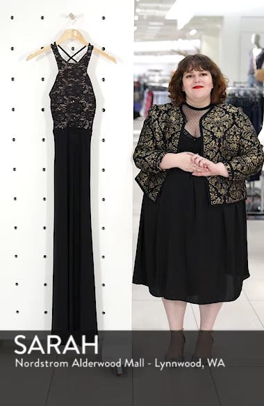 Lace Bodice Strappy Gown, sales video thumbnail