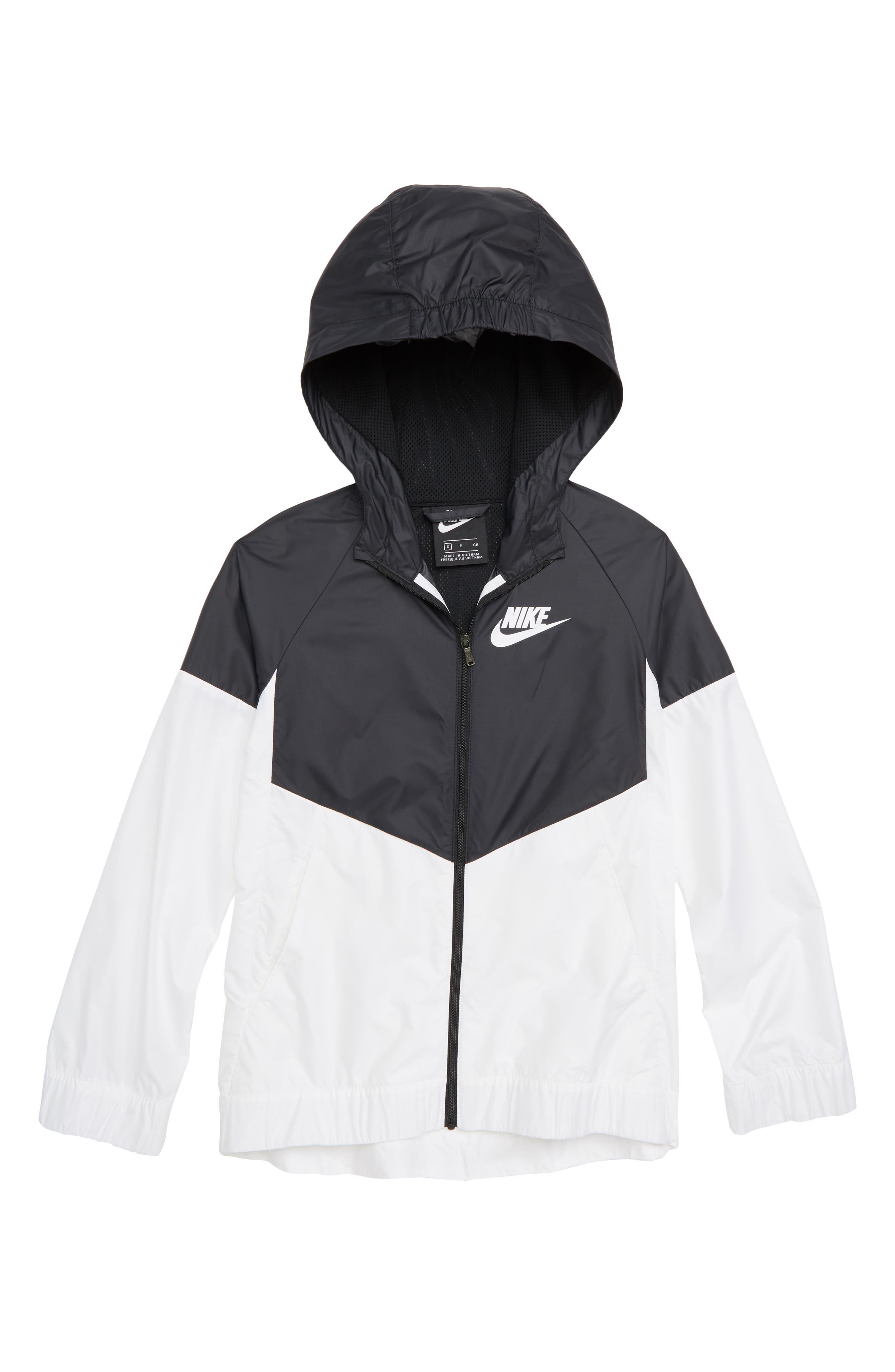 Sportswear Windrunner Jacket,                         Main,                         color, BLACK/ WHITE/ WHITE/ WHITE