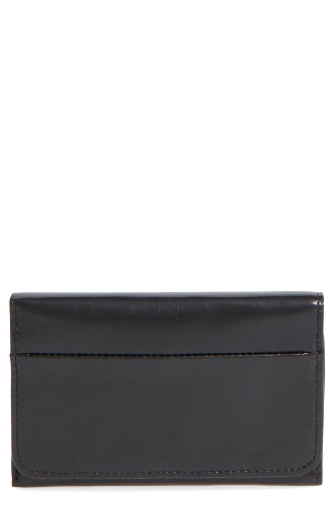 Jill Trifold Wallet,                         Main,                         color, BLACK