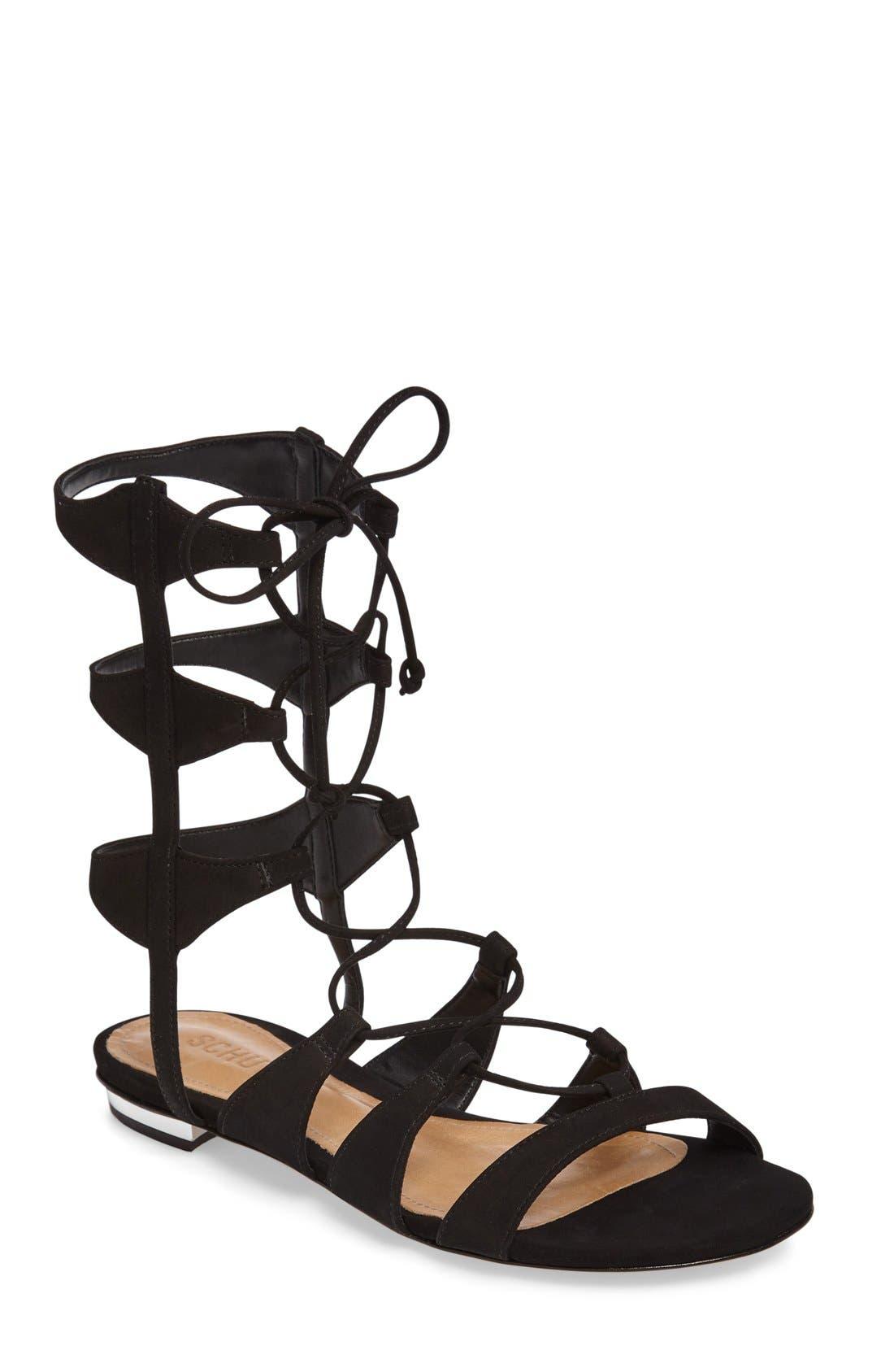 Erlina Lace-Up Sandal,                             Main thumbnail 1, color,                             004
