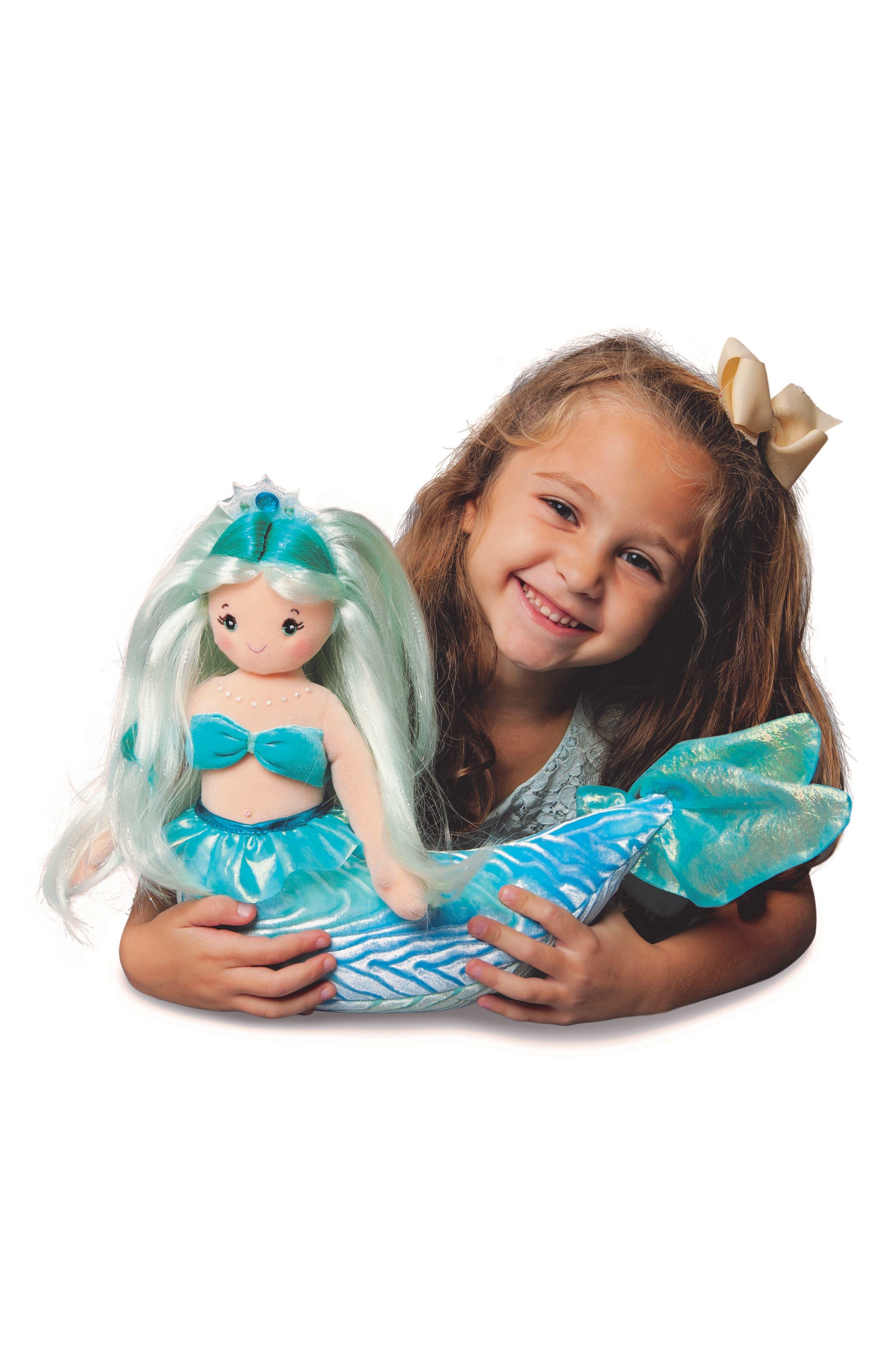 Ciara - Extra Large Aqua Mermaid Doll,                             Alternate thumbnail 3, color,