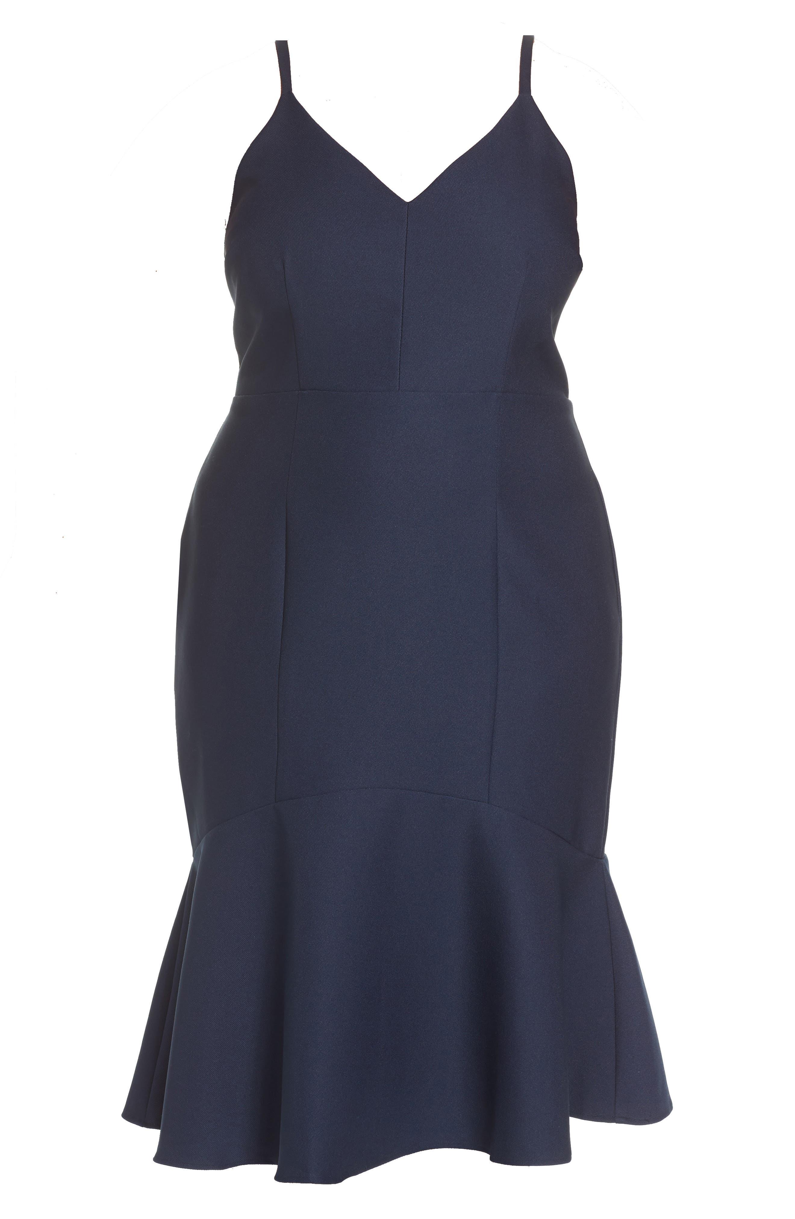 Azalea Flounce Hem Dress,                             Alternate thumbnail 6, color,                             400